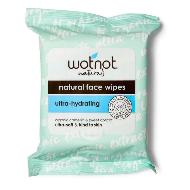 Wotnot Natural Face Wipes Soft Ultra-Hydrating - Aging / Dry Skin 25pk