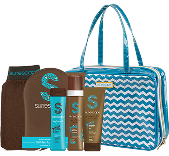 Sunescape Chevron Travel Kit & Bag - Fiji