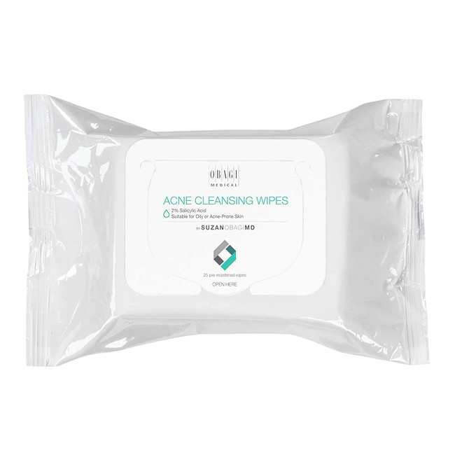 Obagi On the Go Cleansing Wipes for Oily or Acne Prone Skin 25pk