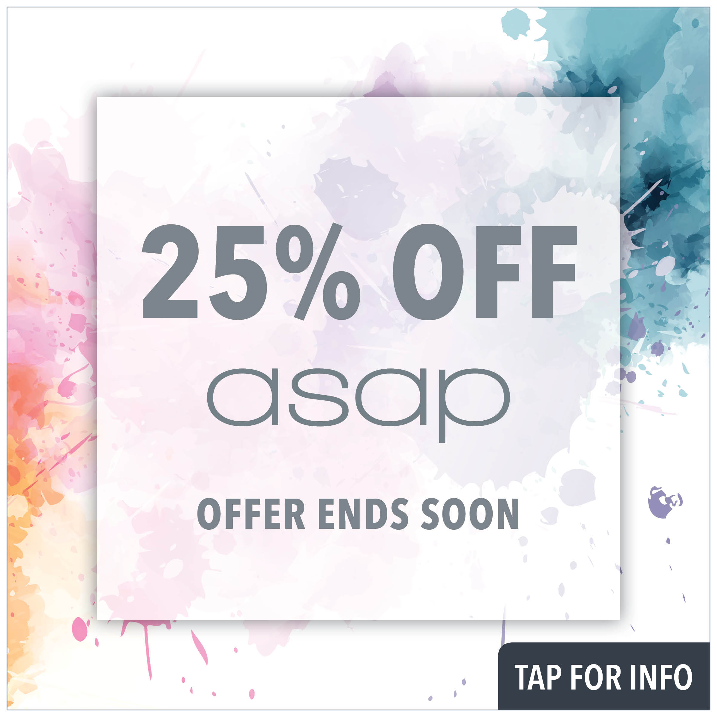 25% off all asap from prodermal