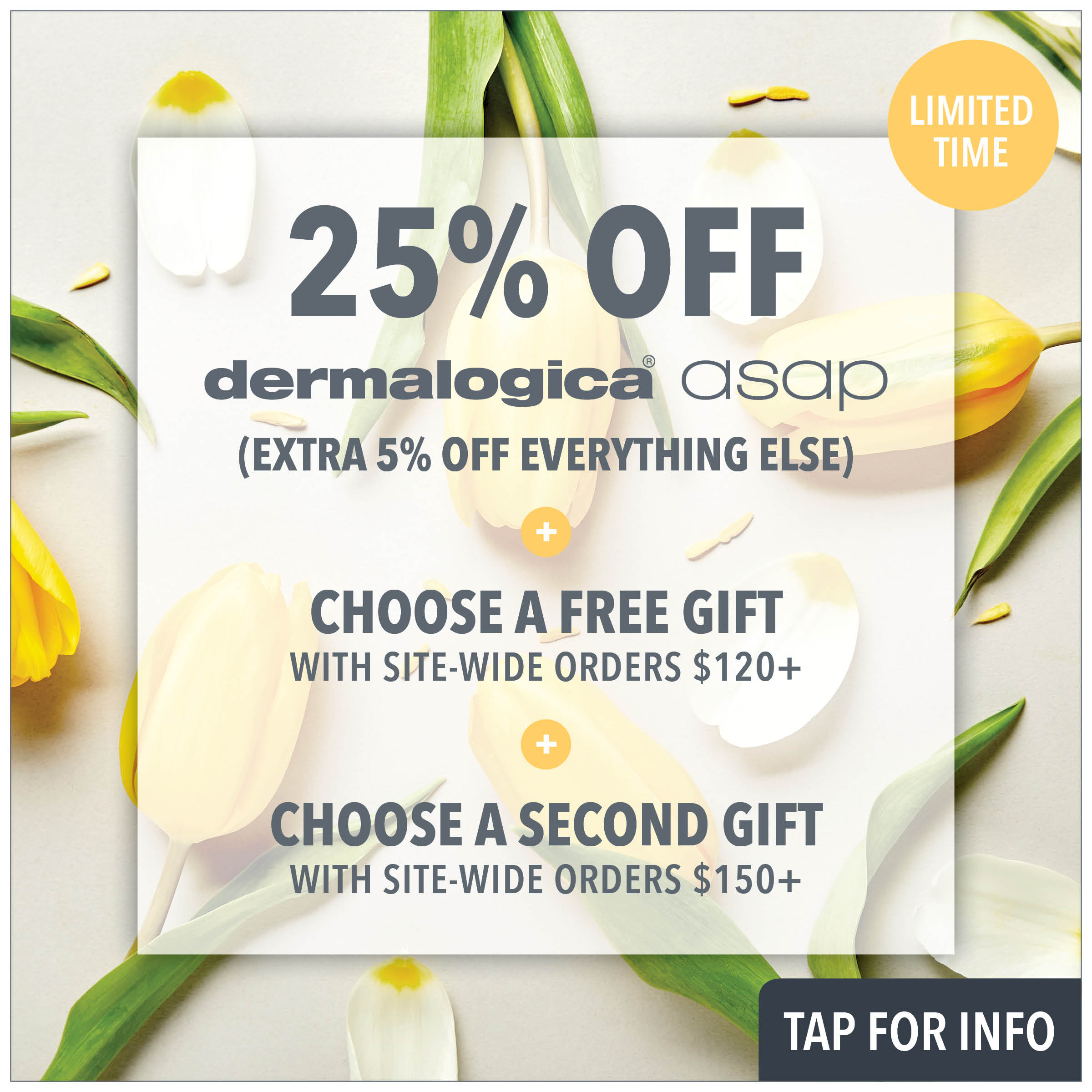 25% off asap and dermalogica from prodermal