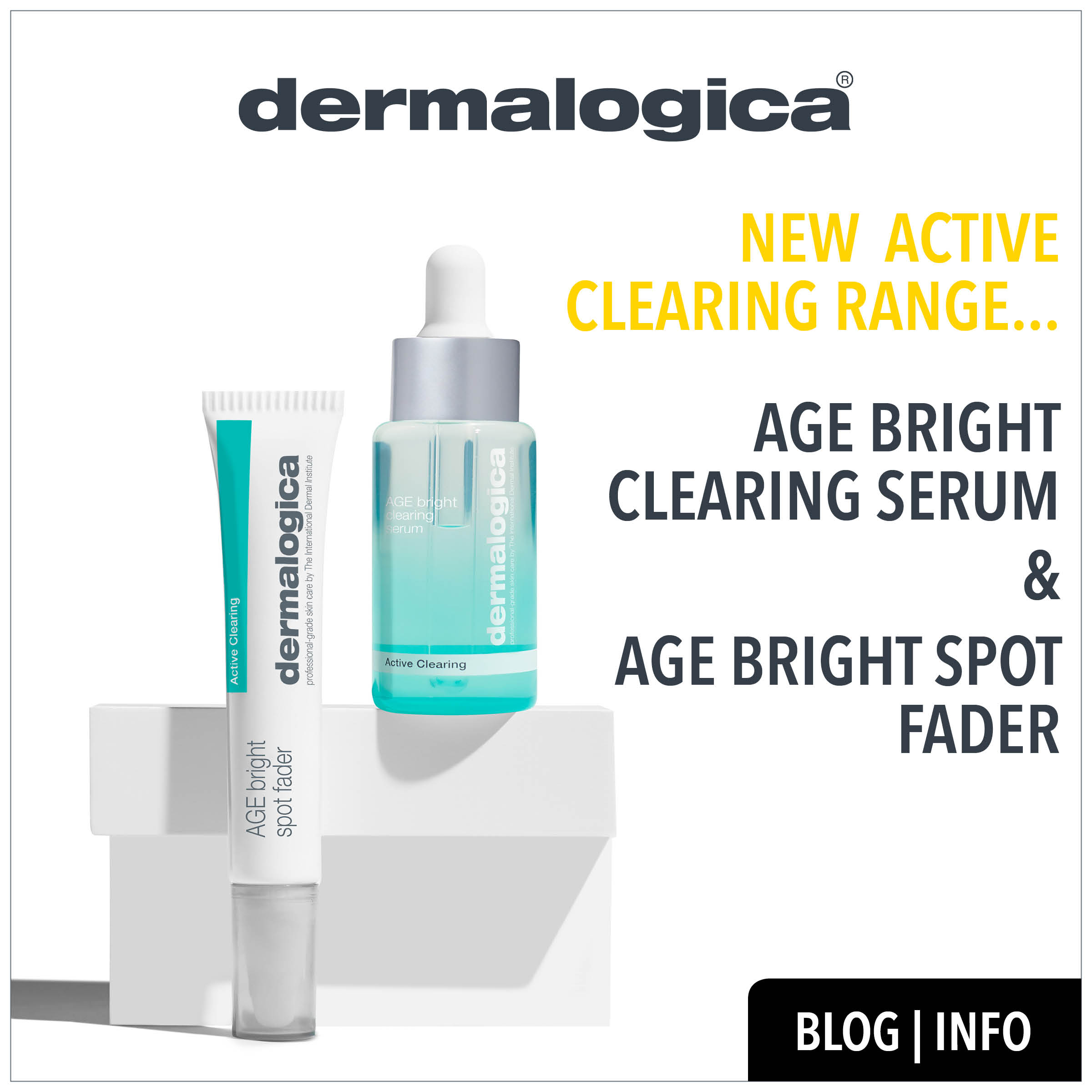 new active clearing range from dermalogica