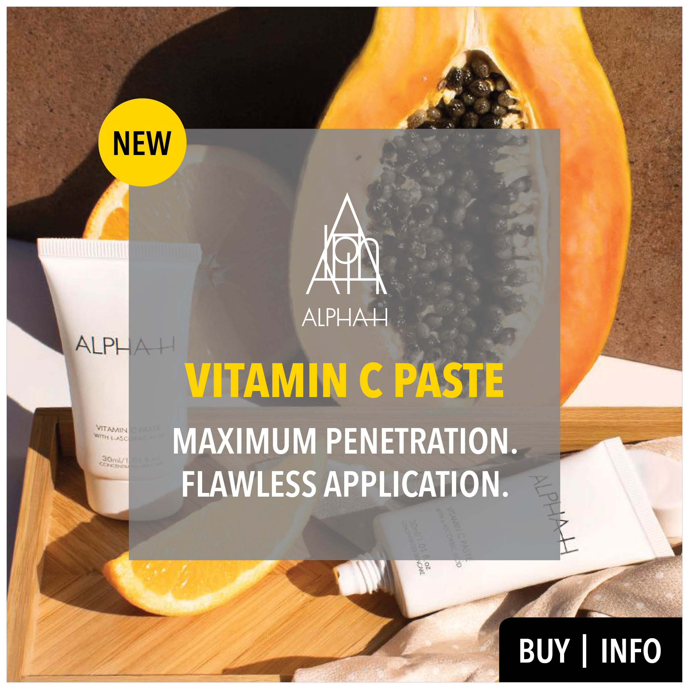 new alpha-h vitamin c paste from prodermal