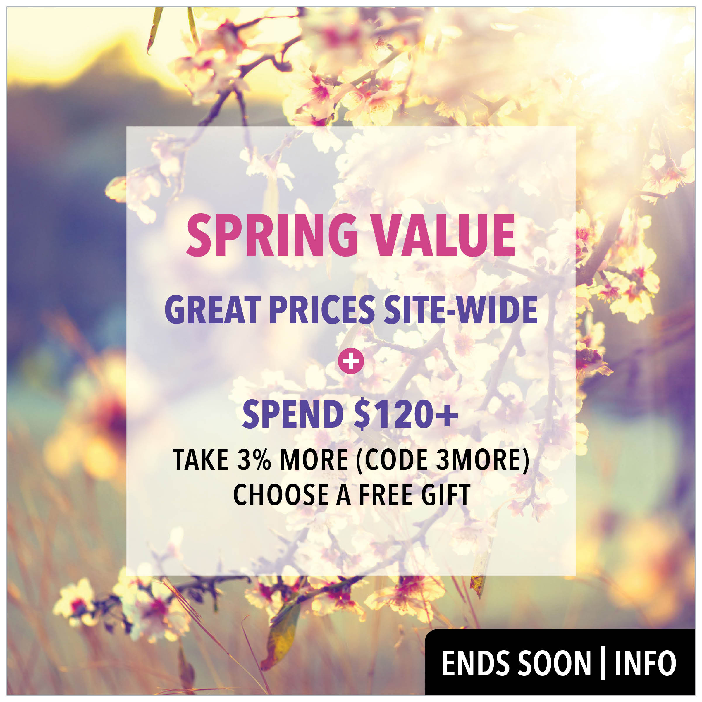 SPRING VALUE FROM PRODERMAL. ENDS SOON.