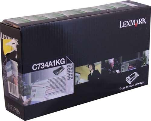 Lexmark C734A1KG OEM Return Program Black Toner Cartridge