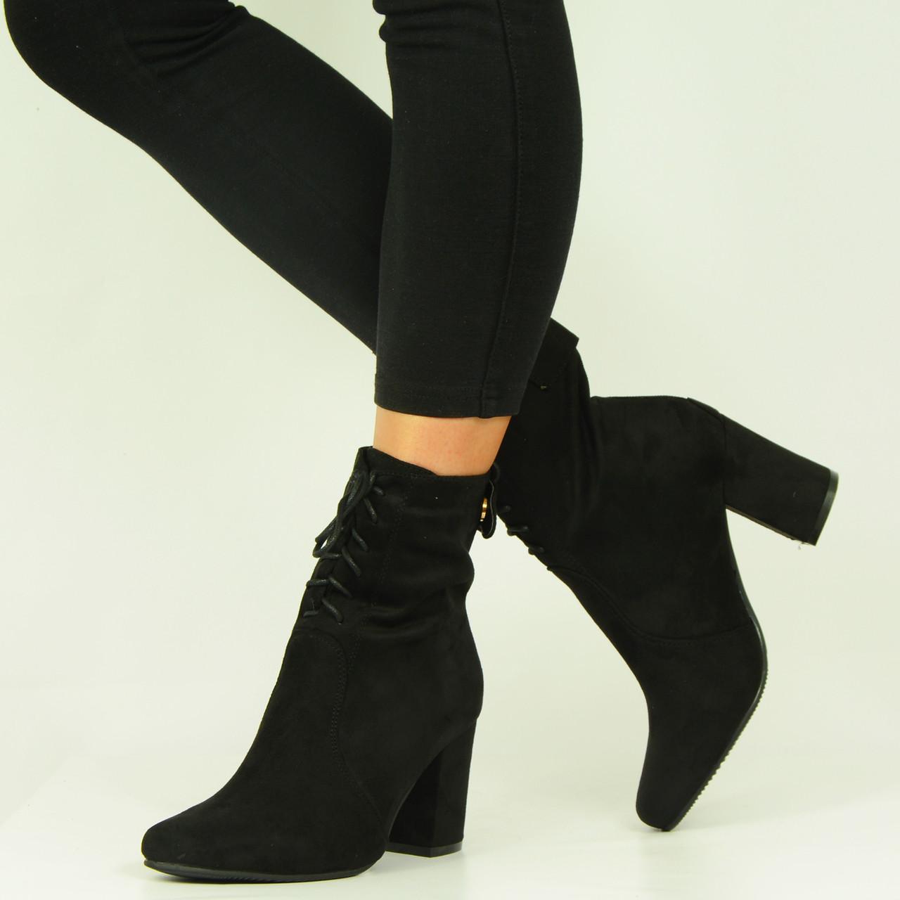 6cc31c84c0b New Womens Ladies Black Lace Up Ankle Boots - £15