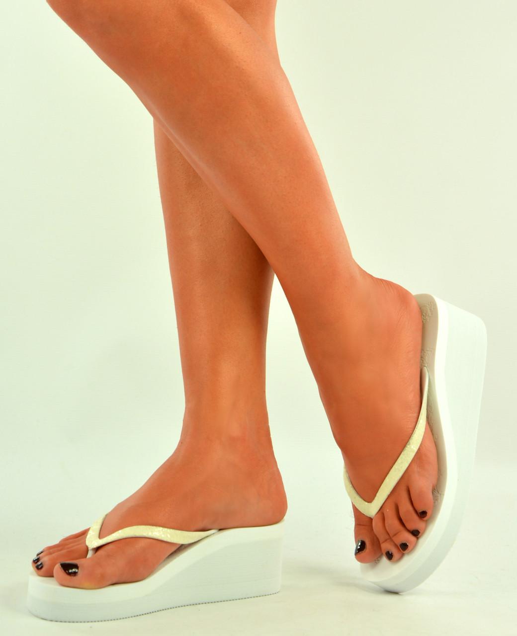 6f04a2fffe4e88 New womens ladies white flip flops wedges platform summer sandals jpg  1040x1280 Platform flip flop sandals