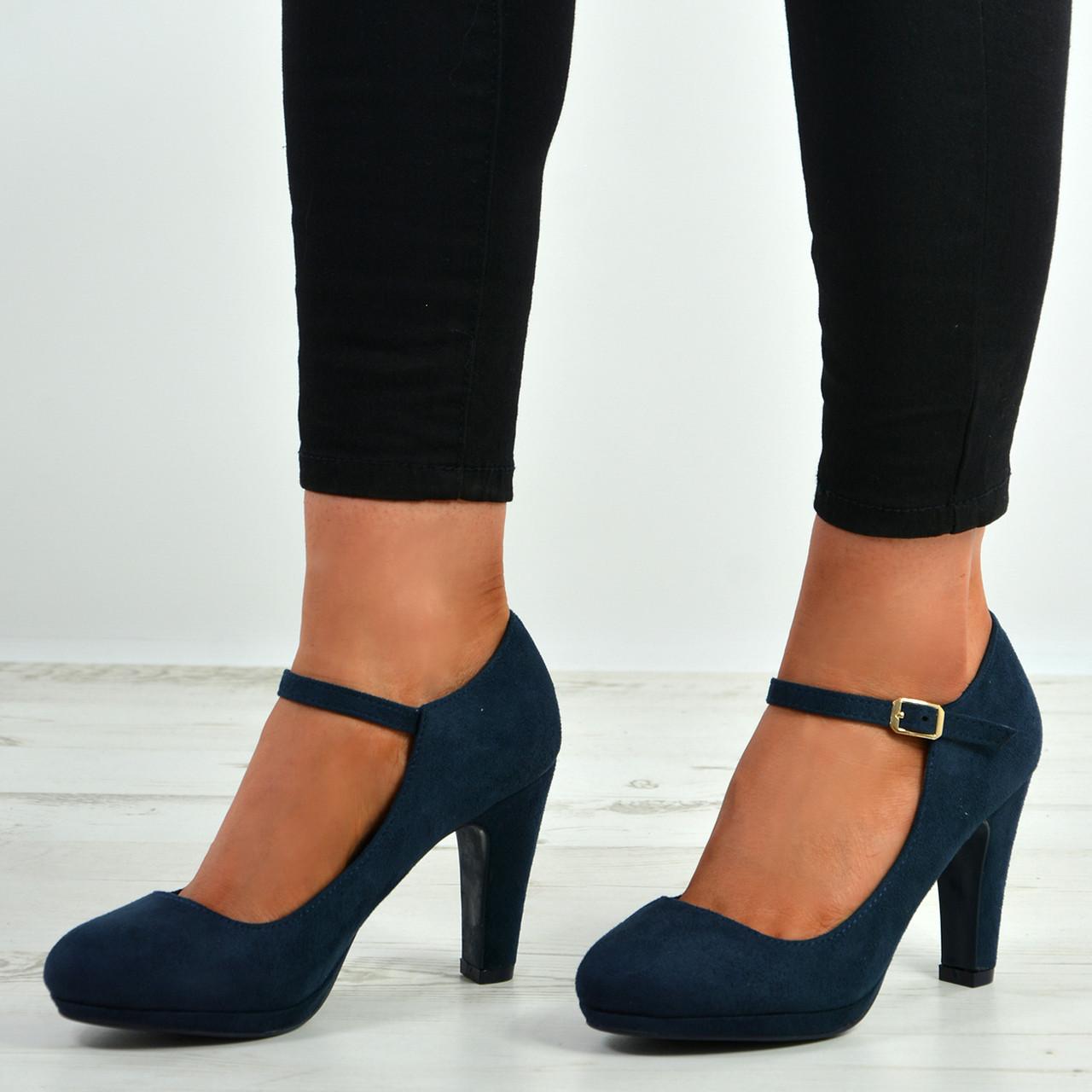 Women's Blue Block Heel Sandal:
