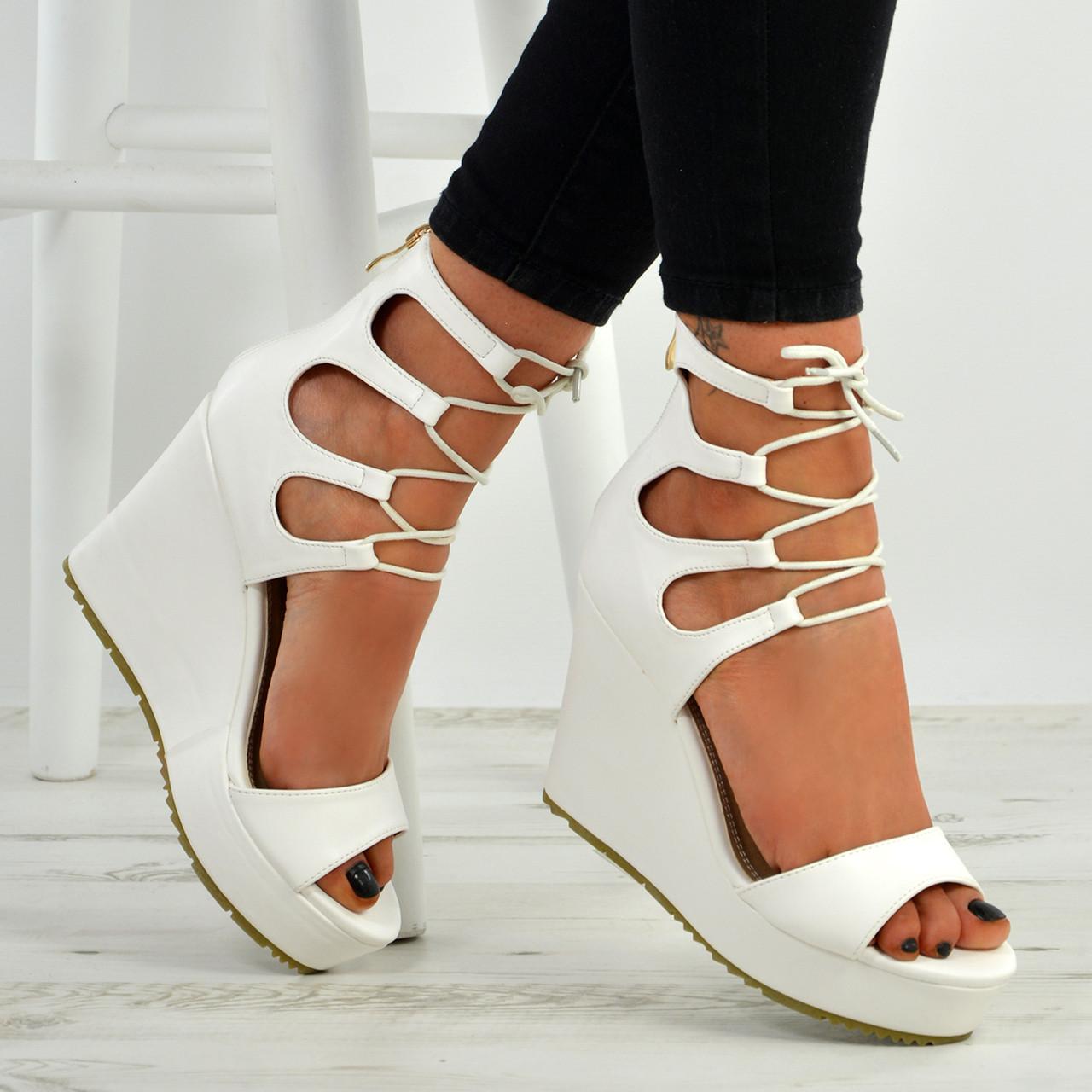 Heel Wedge Sandals Ladies Platform Lace
