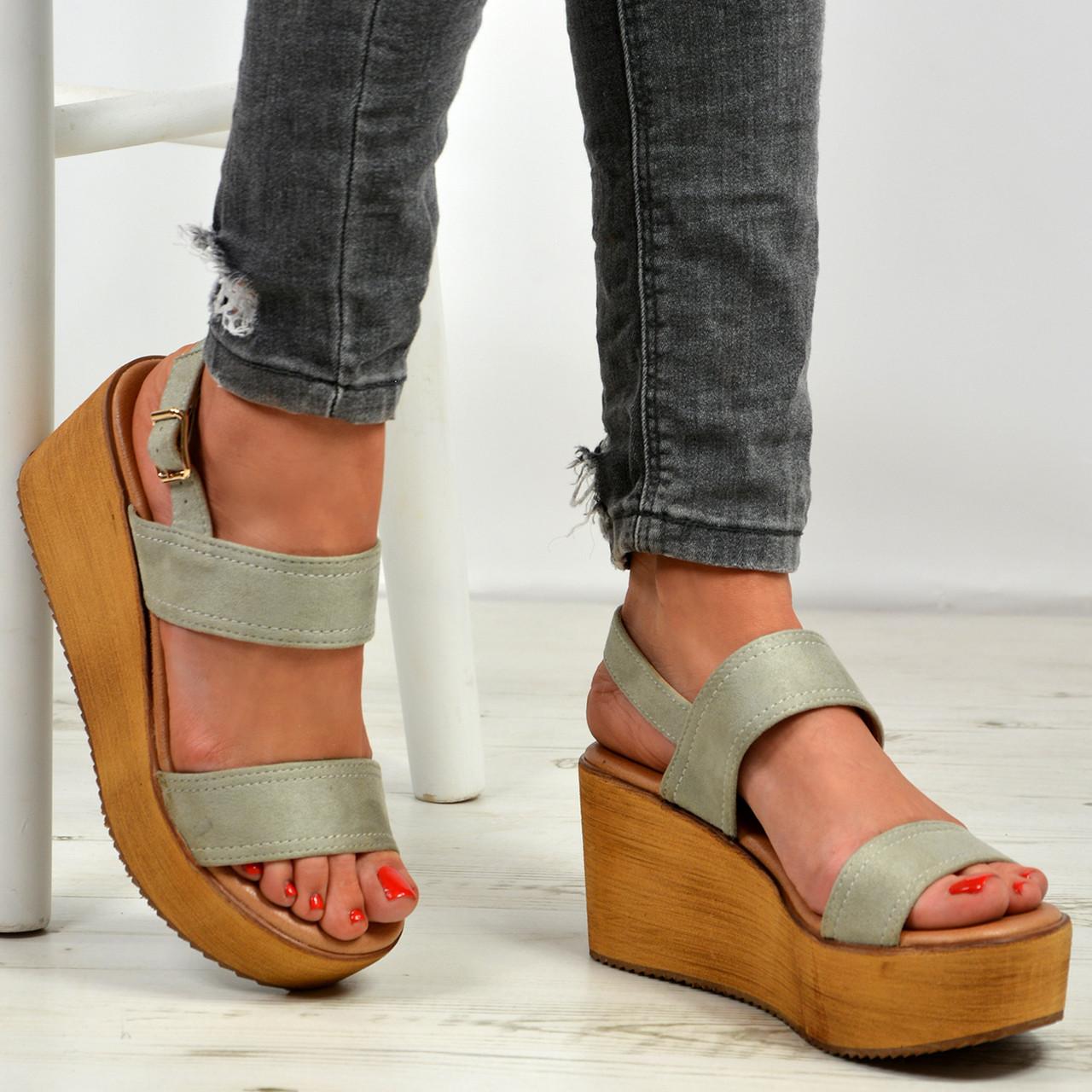 f0f1d657290 Annie Grey Ankle Strap Platform Sandals