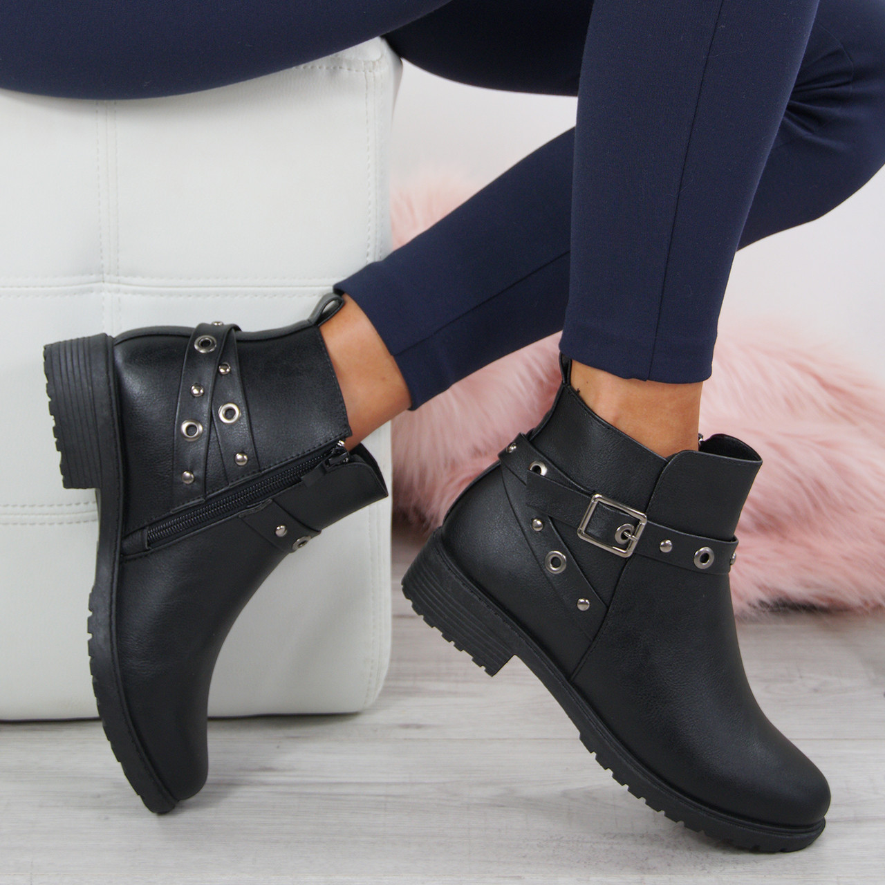 15545fd9804 Meredith Black Ankle Boots
