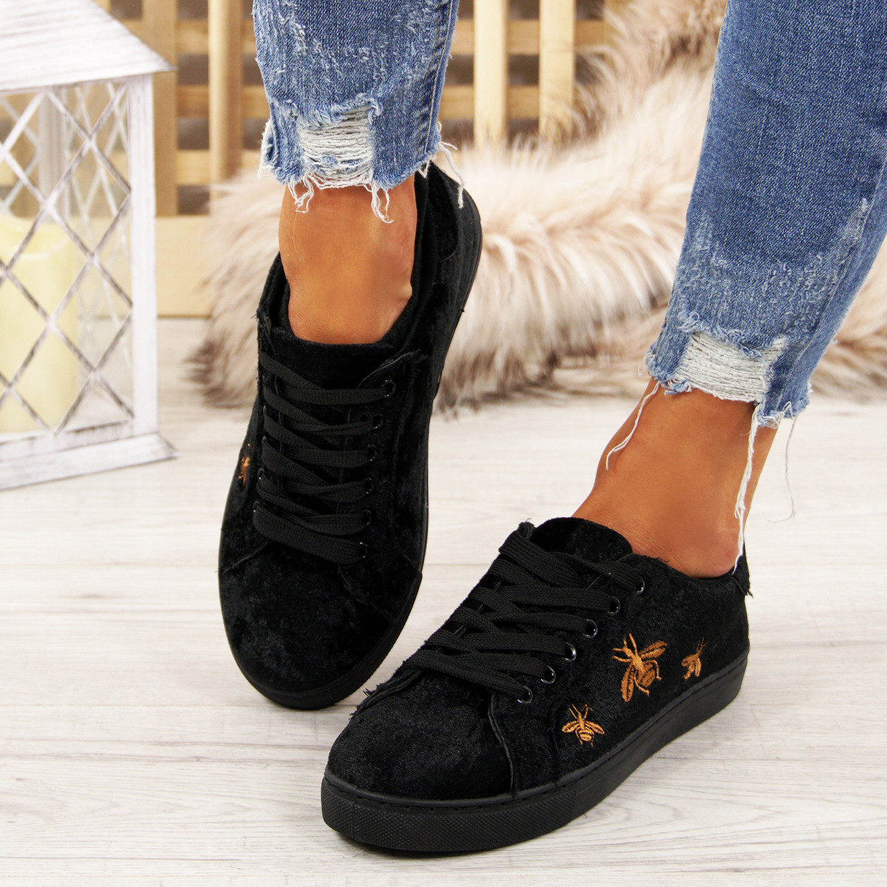 02e6ef21aac Womens Flat Comfy Trainers Plimsolls Pumps Lace-Up Casual Ladies Shoes Sizes