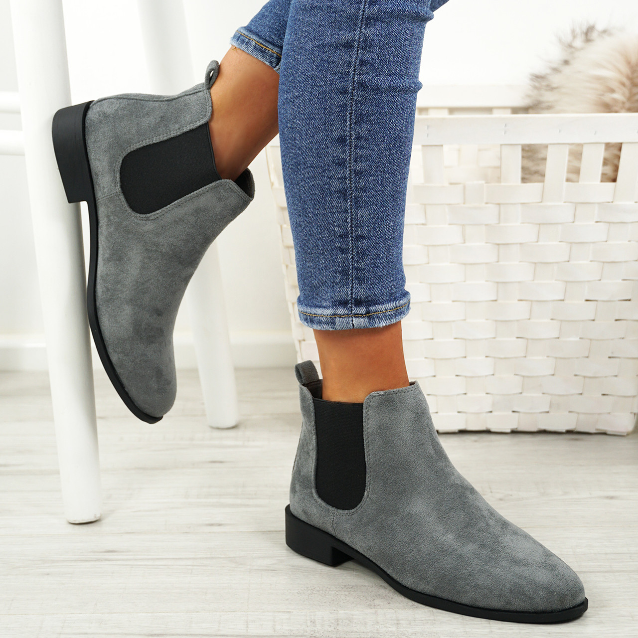 new appearance finest selection buy good Ladies Womens Slip On Chelsea Ankle Boots Low Heel Elastic Gusset ...