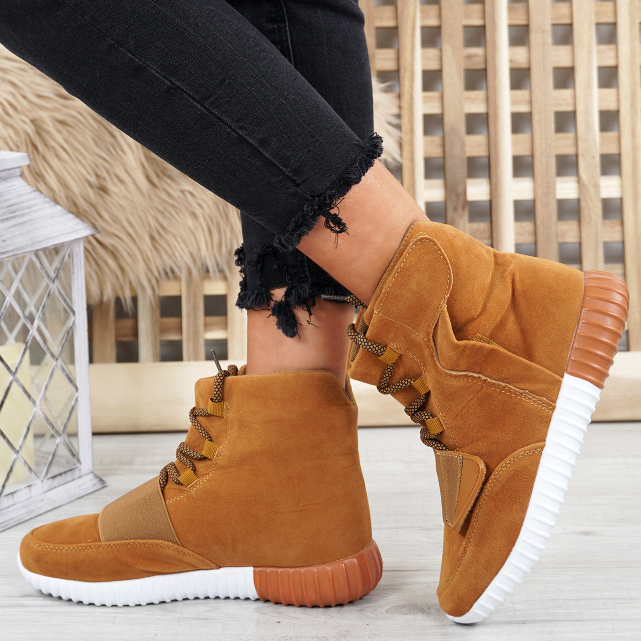 f27dc61c9df Viga Camel Trainers Ankle Boots