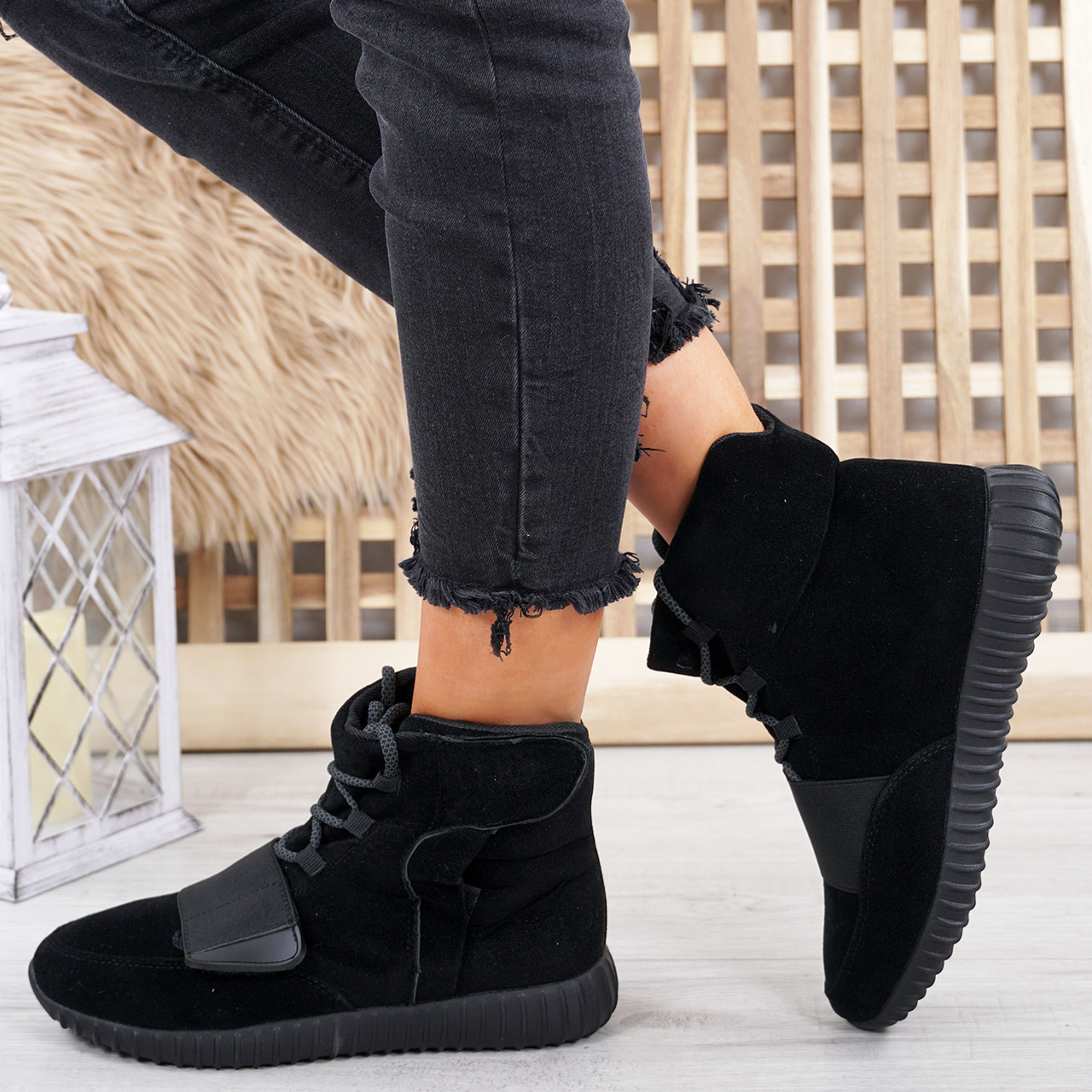 b0b06a0054b Viga Black Trainers Ankle Boots