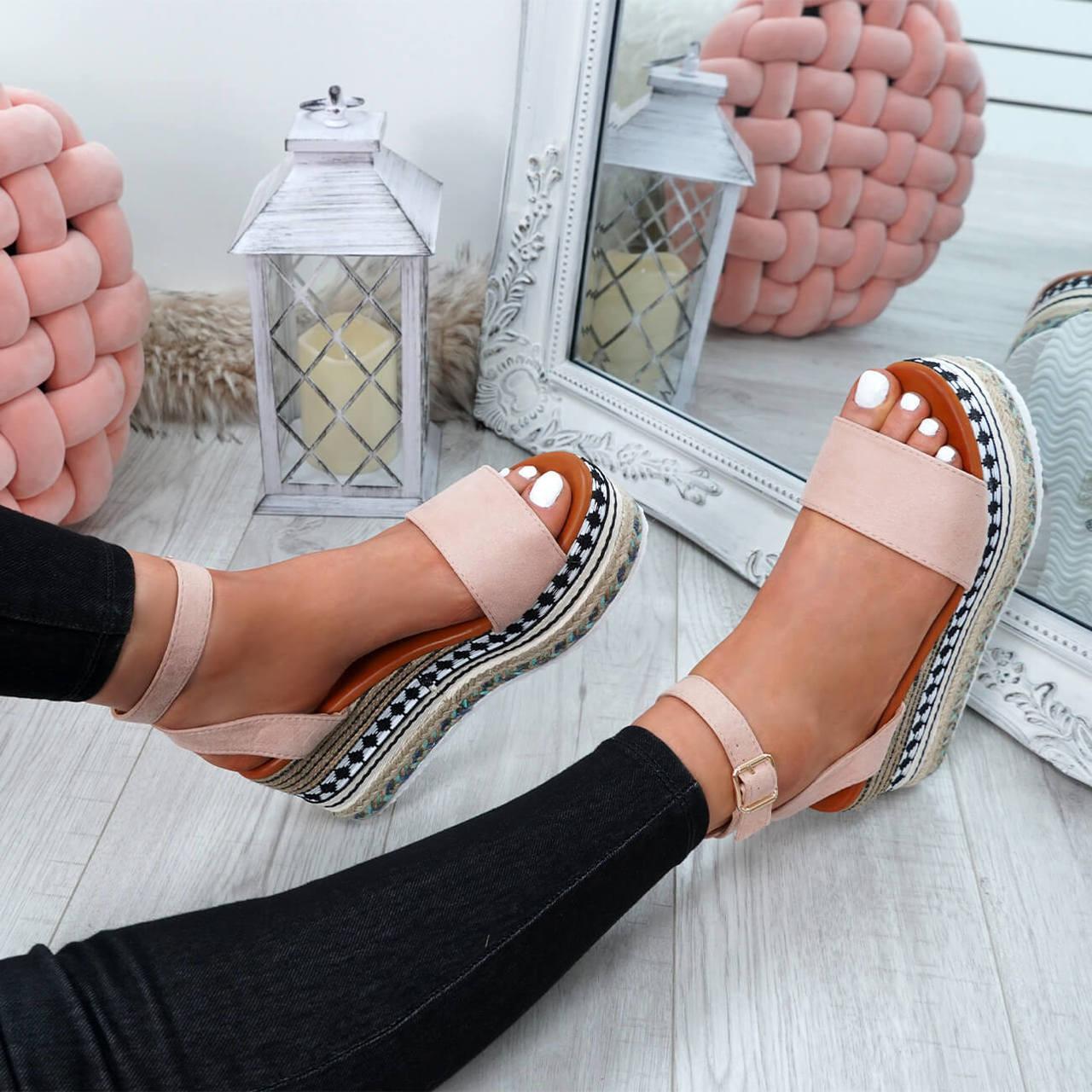 e59f66022f41 Womens Ladies Ankle Strap Flatform Sandals Platform Summer ...