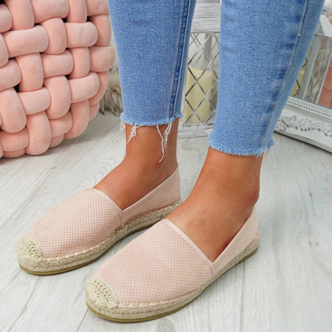 d3ae68572 Womens Ladies Flat Espadrille Ballerinas Slip On Flats Summer Shoes Size