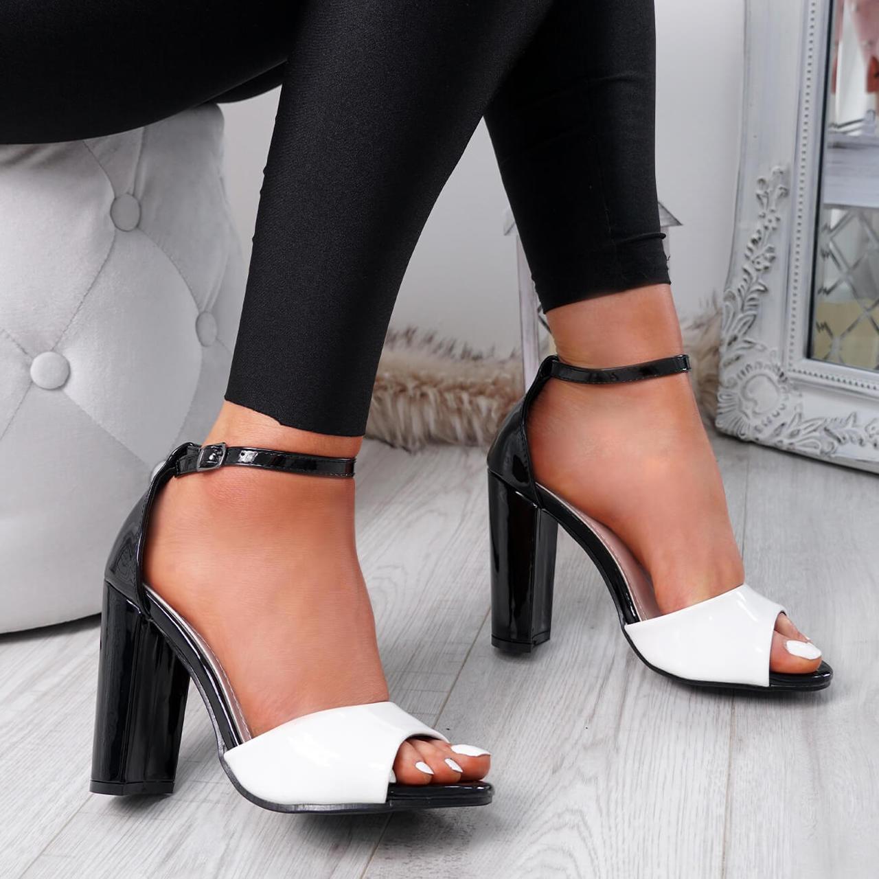 571c1cf3ea Womens Ladies Ankle Strap High Block Heel Sandals Peep Toe Office Casual  Shoes