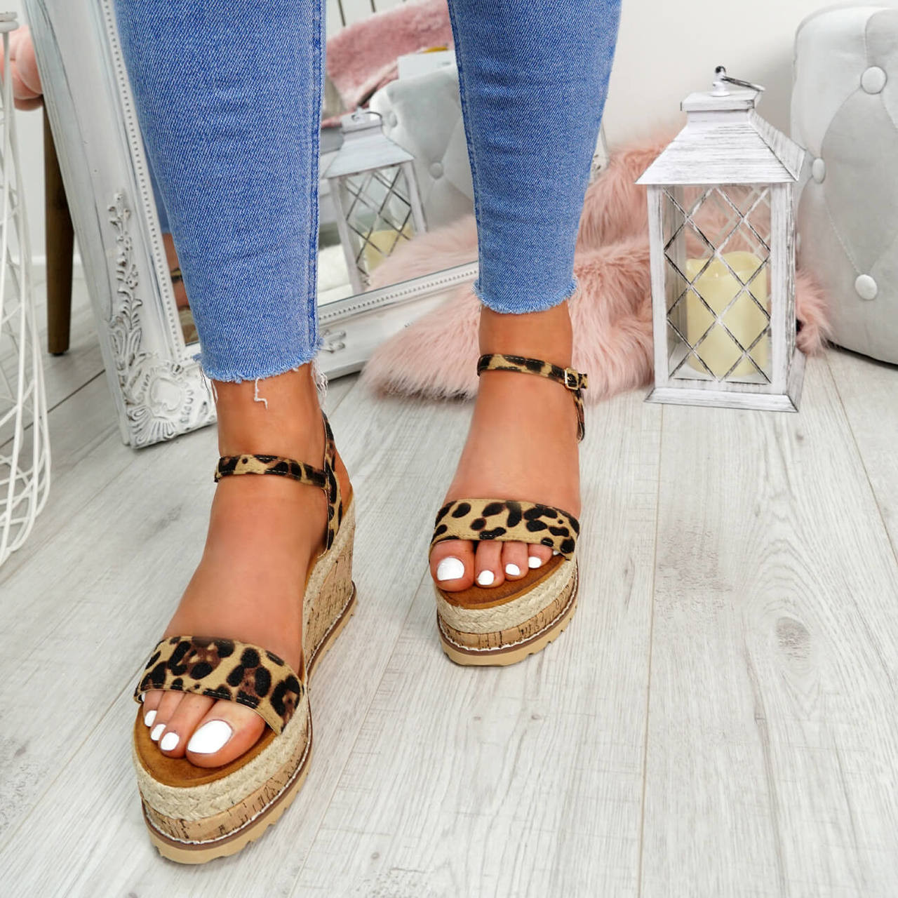 0d221837ccb Womens Ladies High Heel Platform Sandals Wedge Buckle Peep Toe Shoes ...