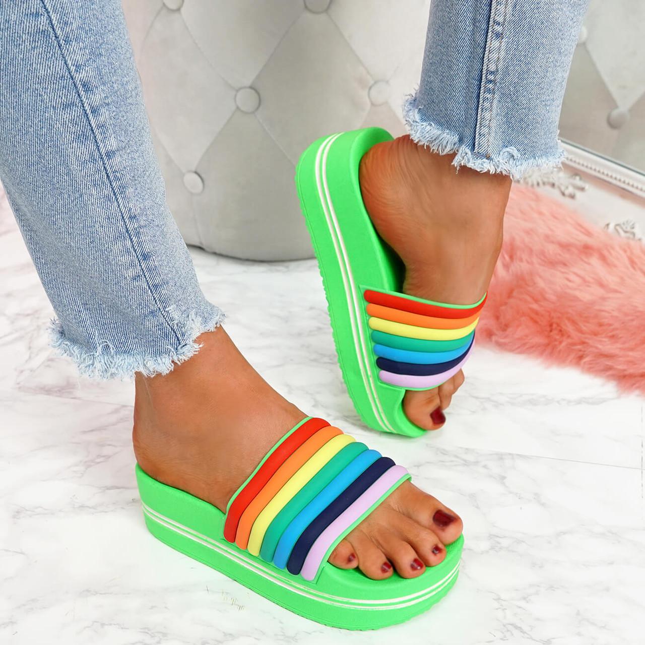 Jubby Green Flatform Sandals