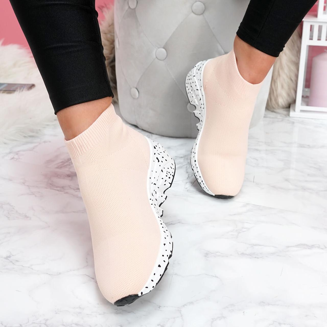 Hexya Pink Sock Sneakers