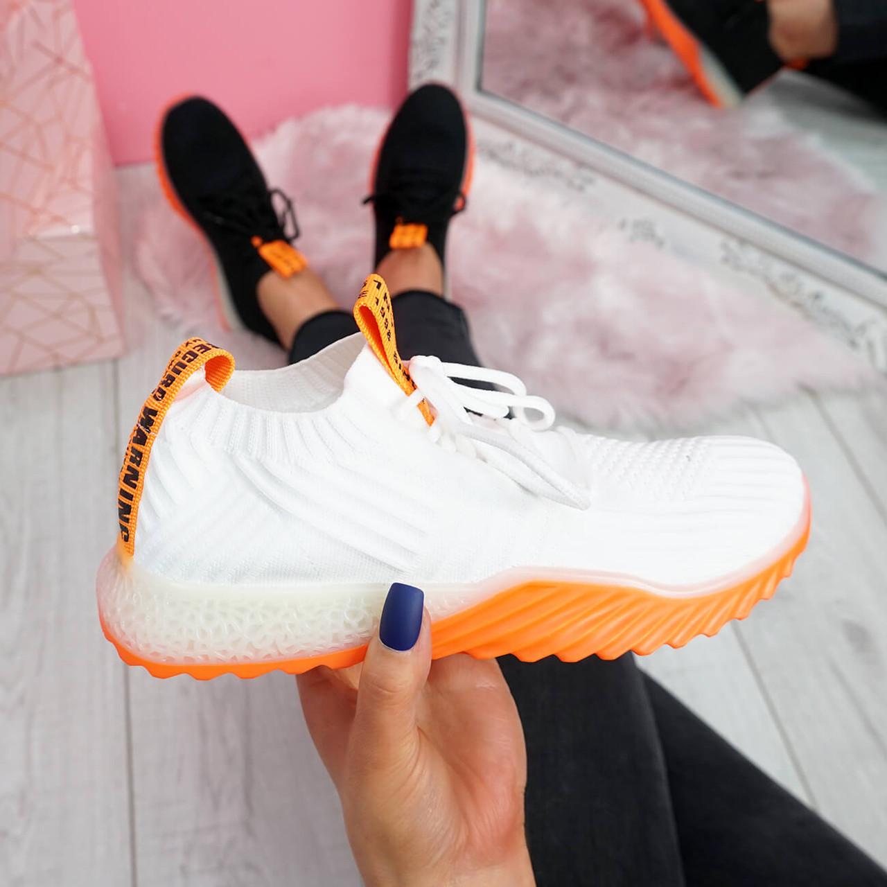 Seyna White Orange Trainers