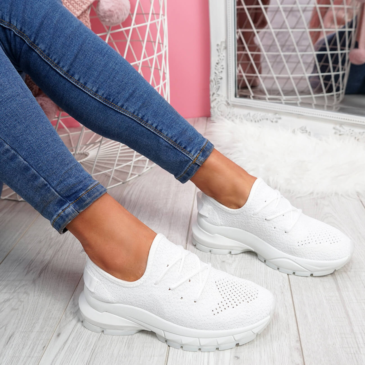 size 2 chunky trainers