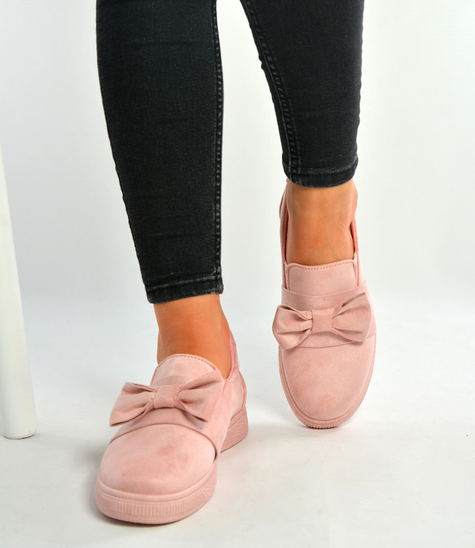Pink Bow Sneakers Trainers