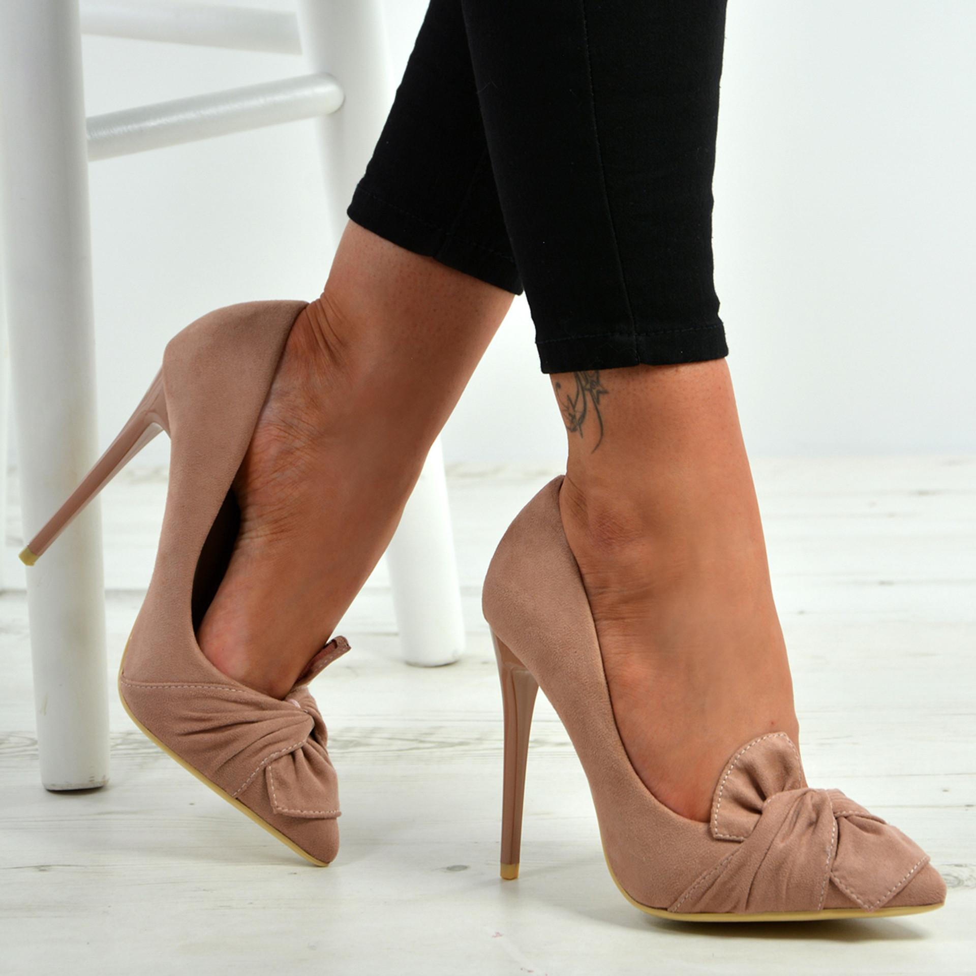 Ingrid Pink Bow Stiletto Pumps