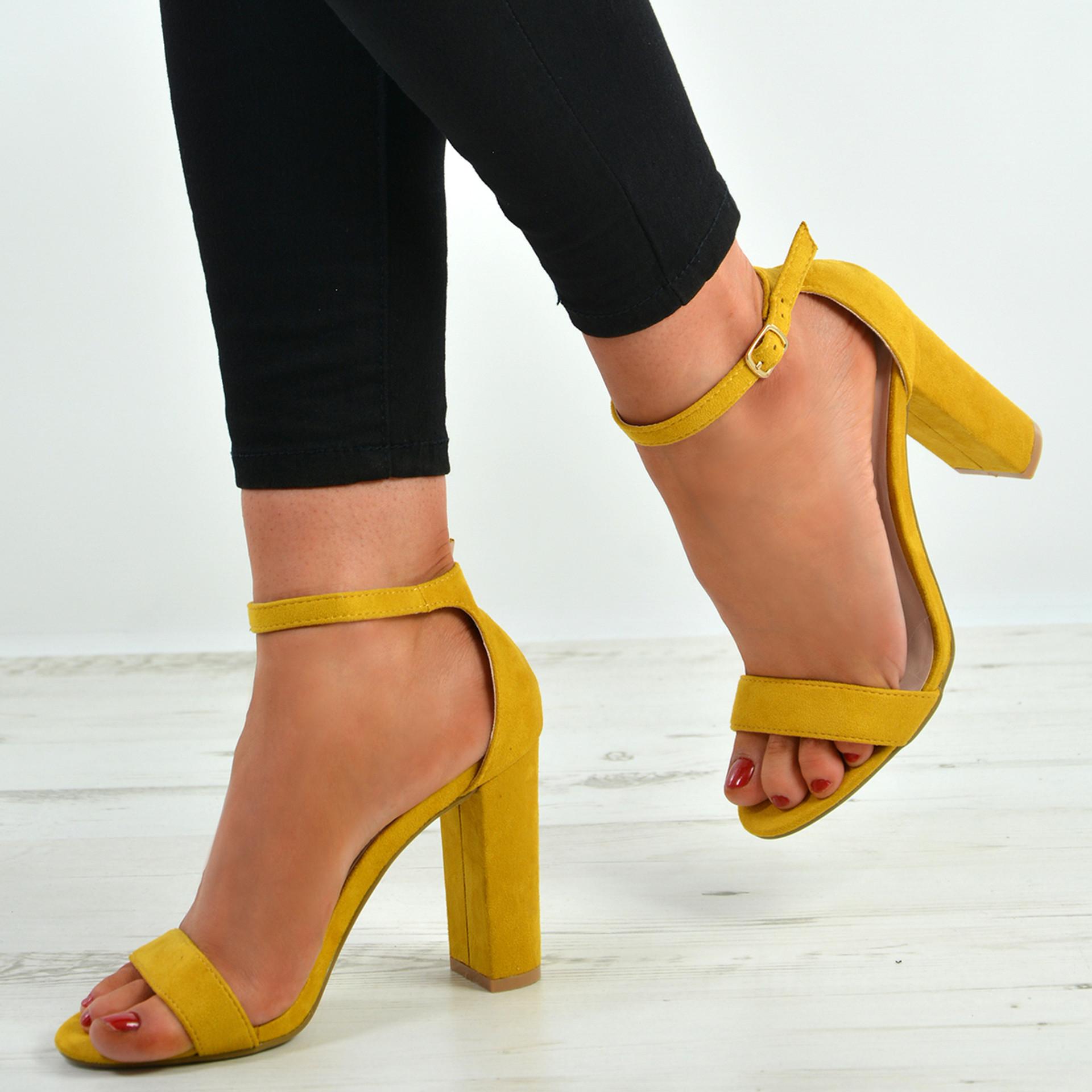 Madison Yellow Block Heel Sandals