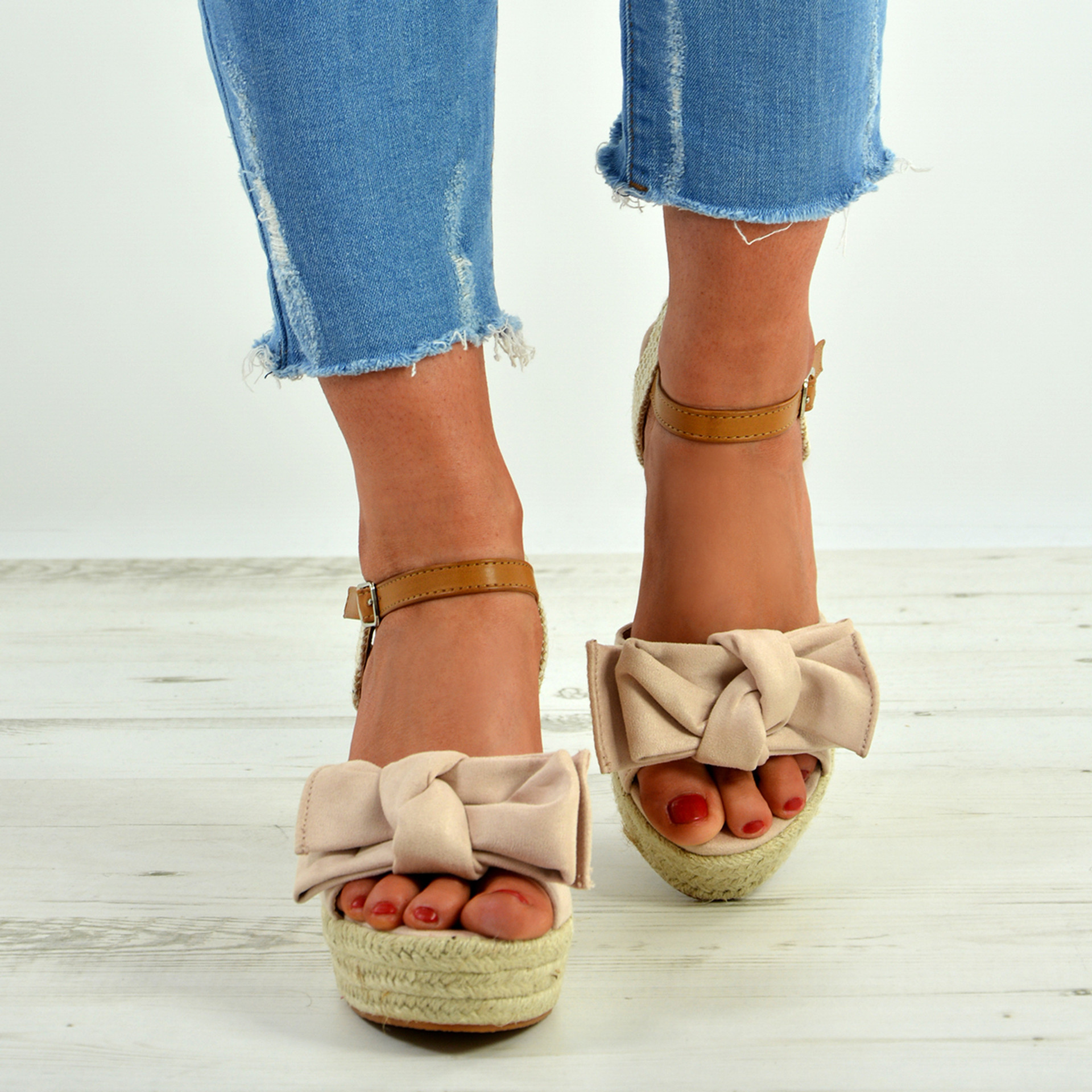 Tatum Pink Wedge Platform Sandals