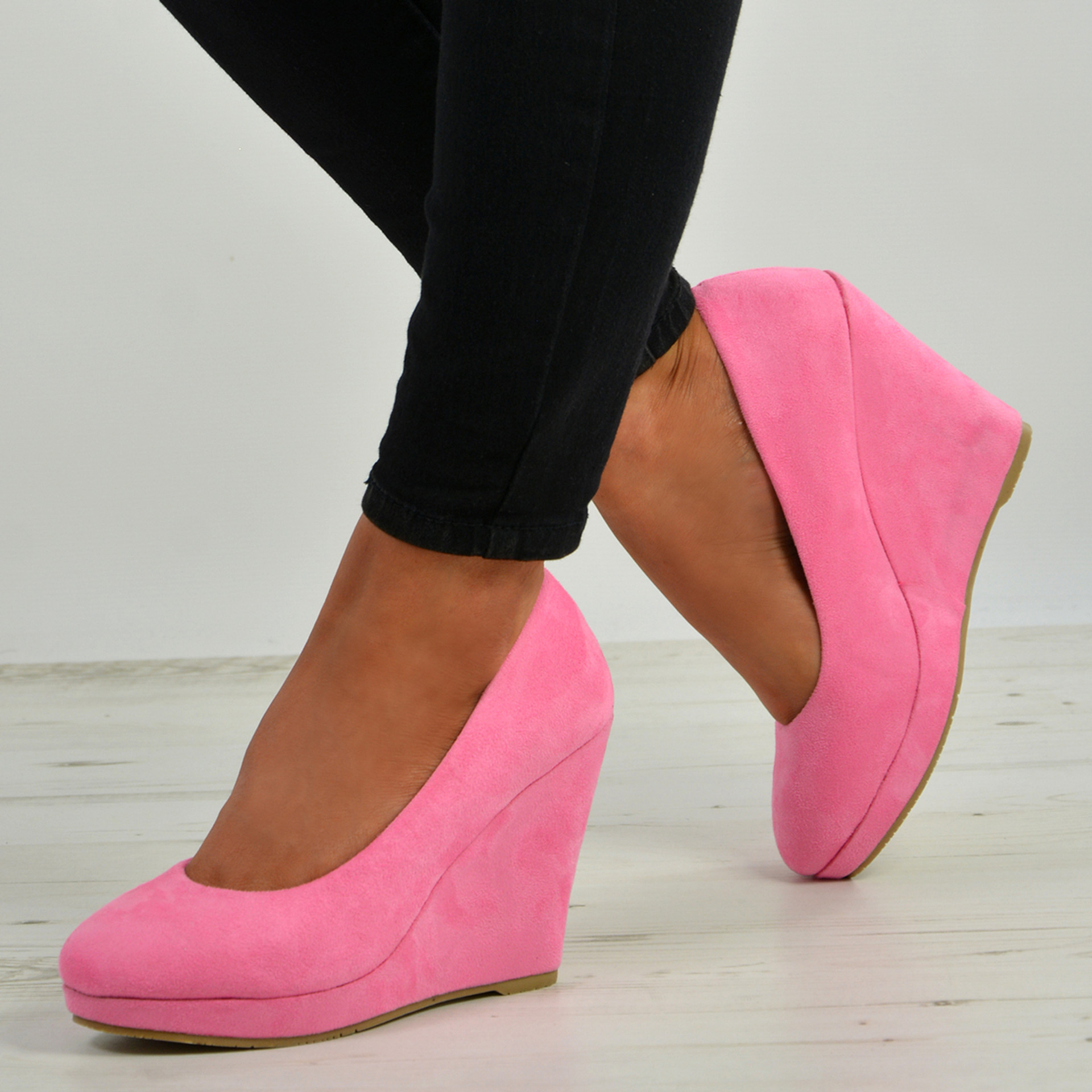 Elsa Dark Pink Slip On Pumps