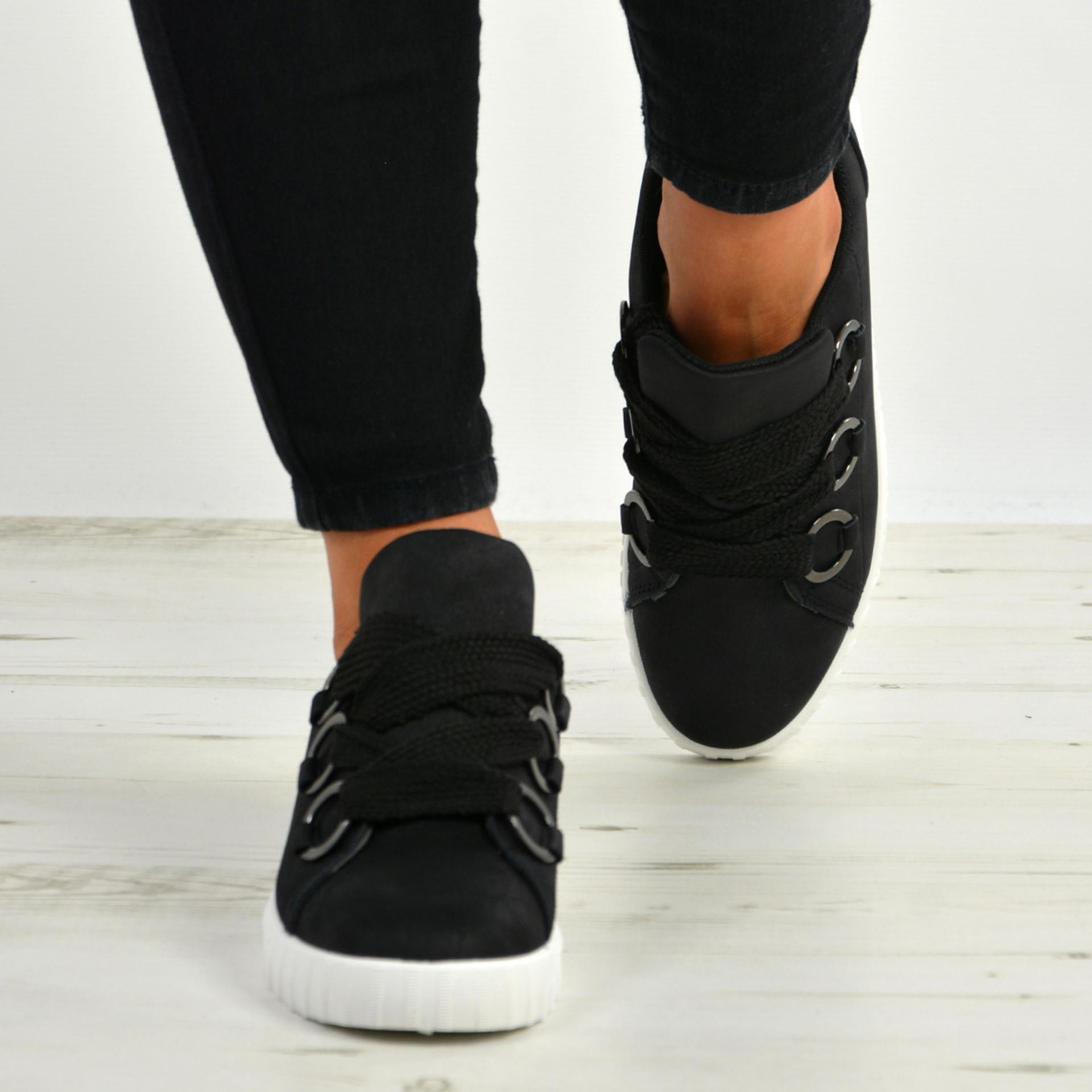 Marisol Black Slip On Trainers