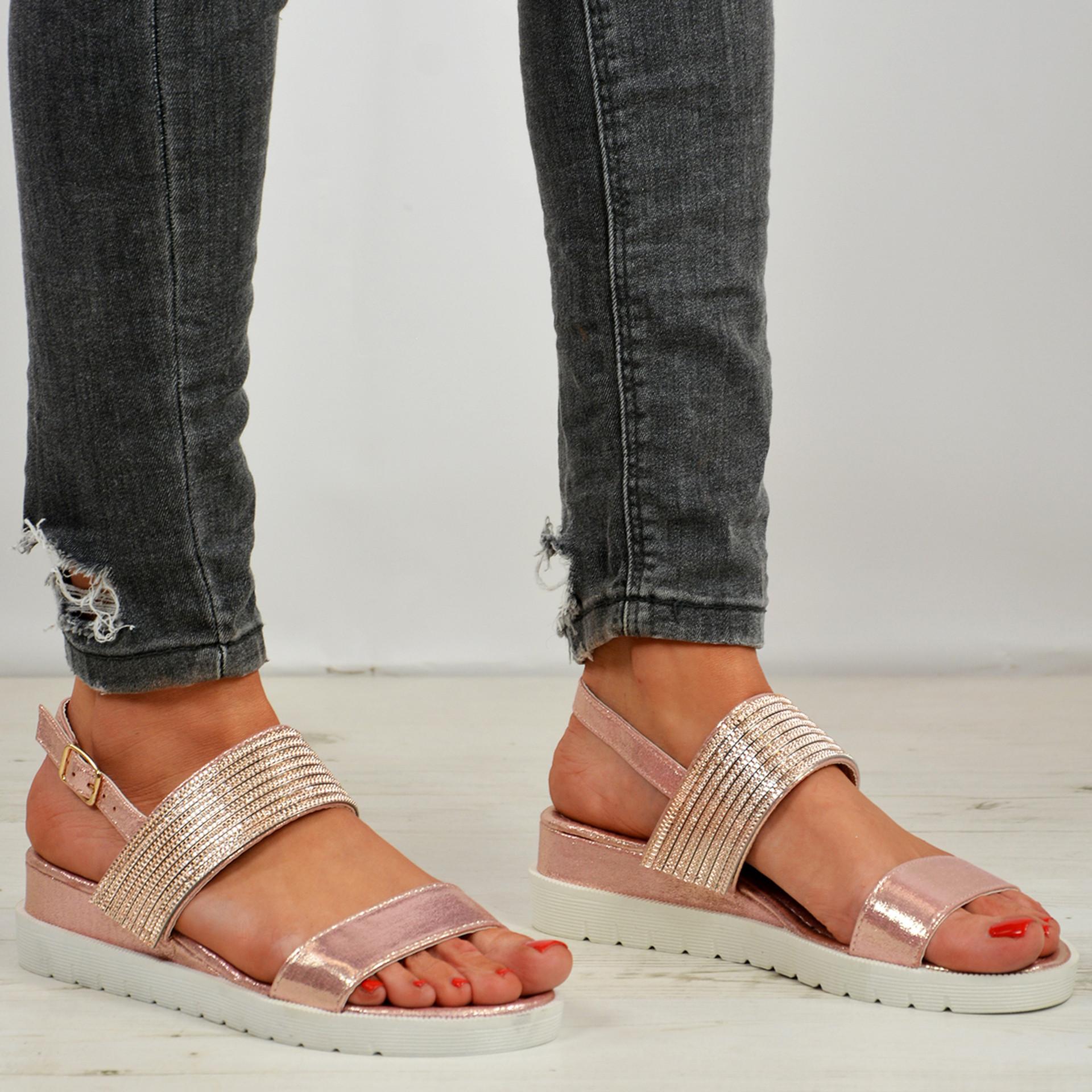 Iyana Studded Champagne Sandals