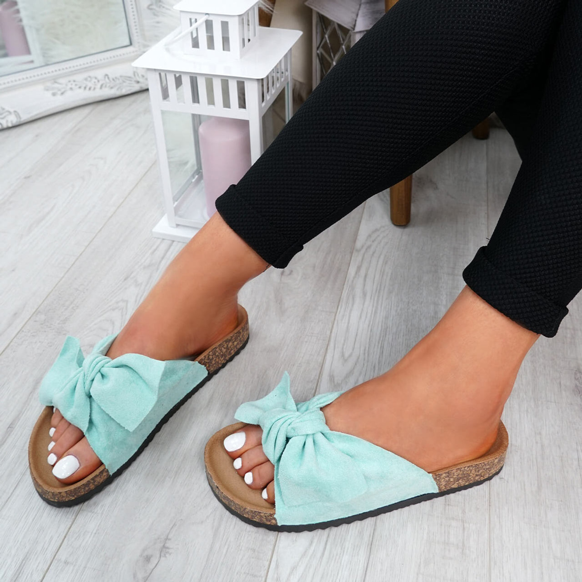 Pato Green Bow Sliders