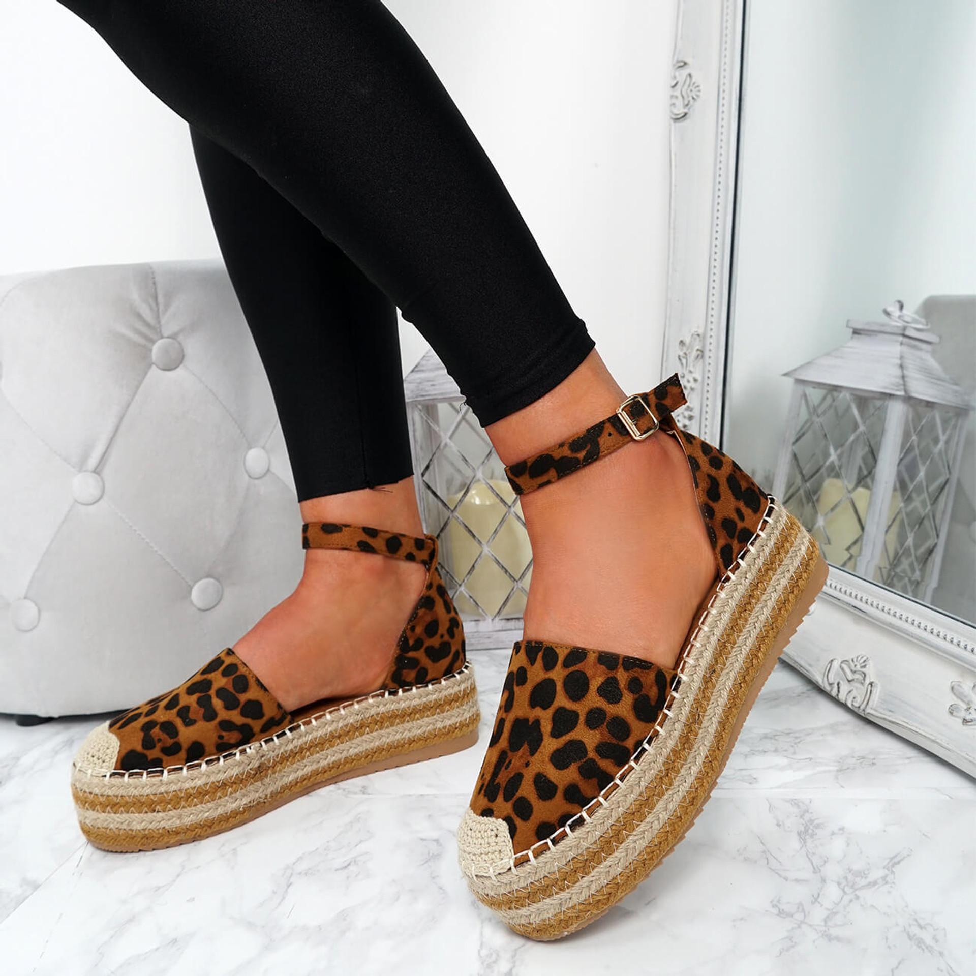 Lauryn Leopard Espadrille Flatforms