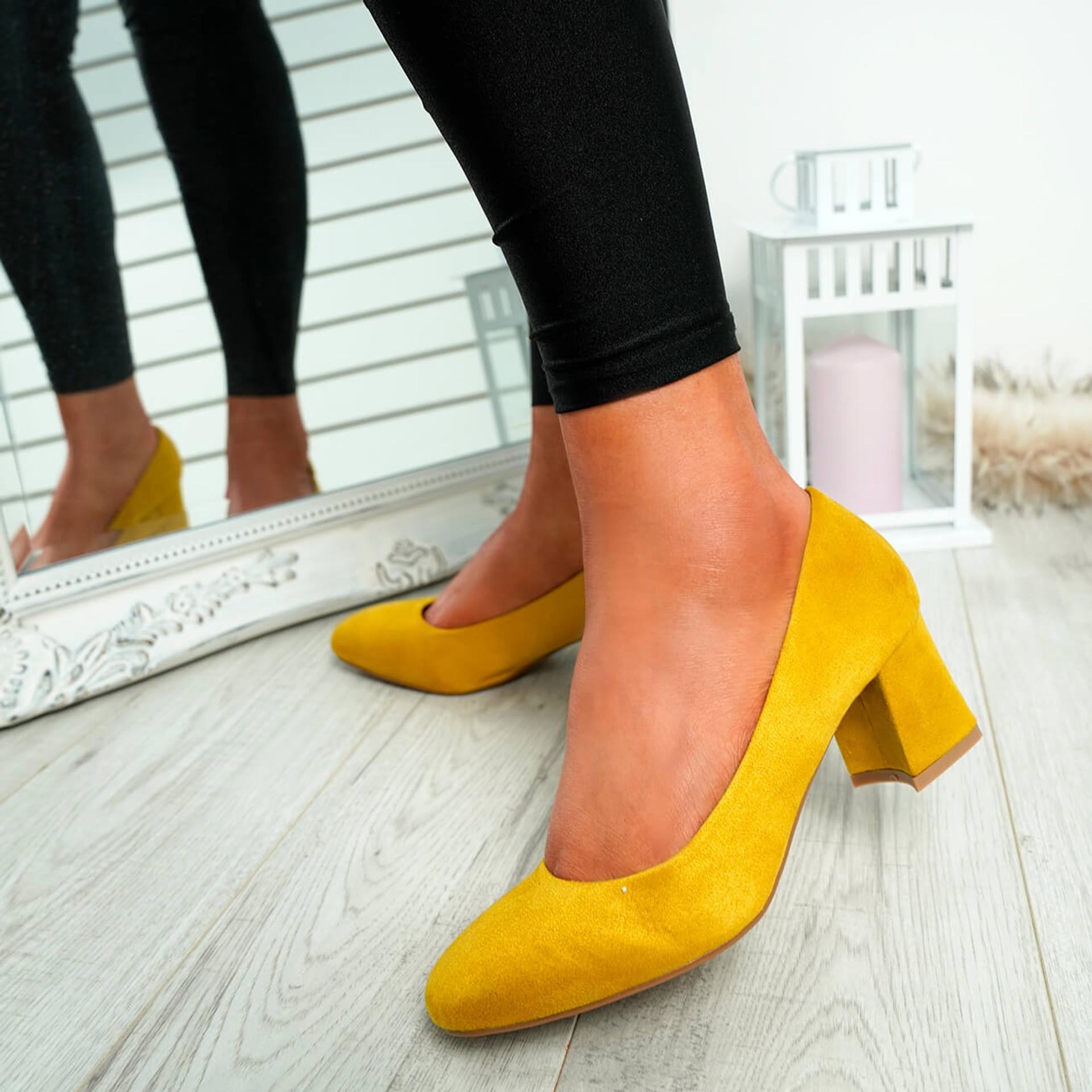 Petra Yellow Slip On Court Pumps