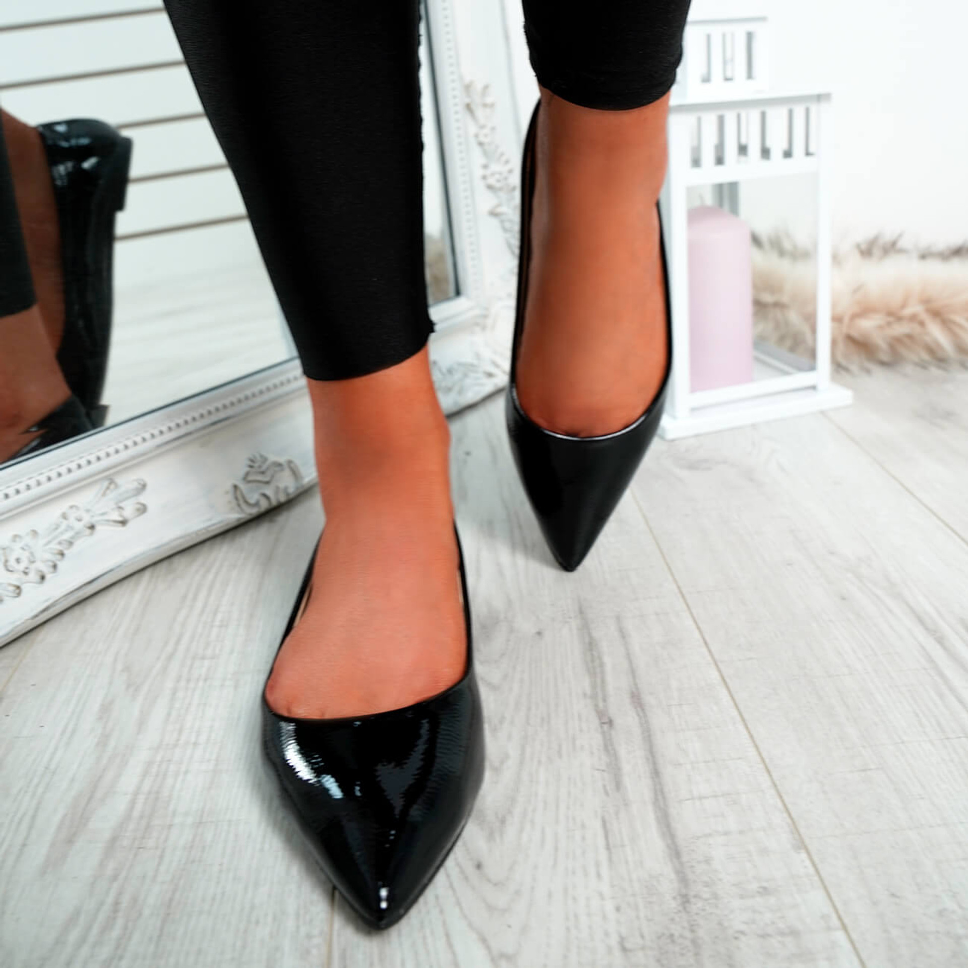 Ify Black Pointed Ballerinas