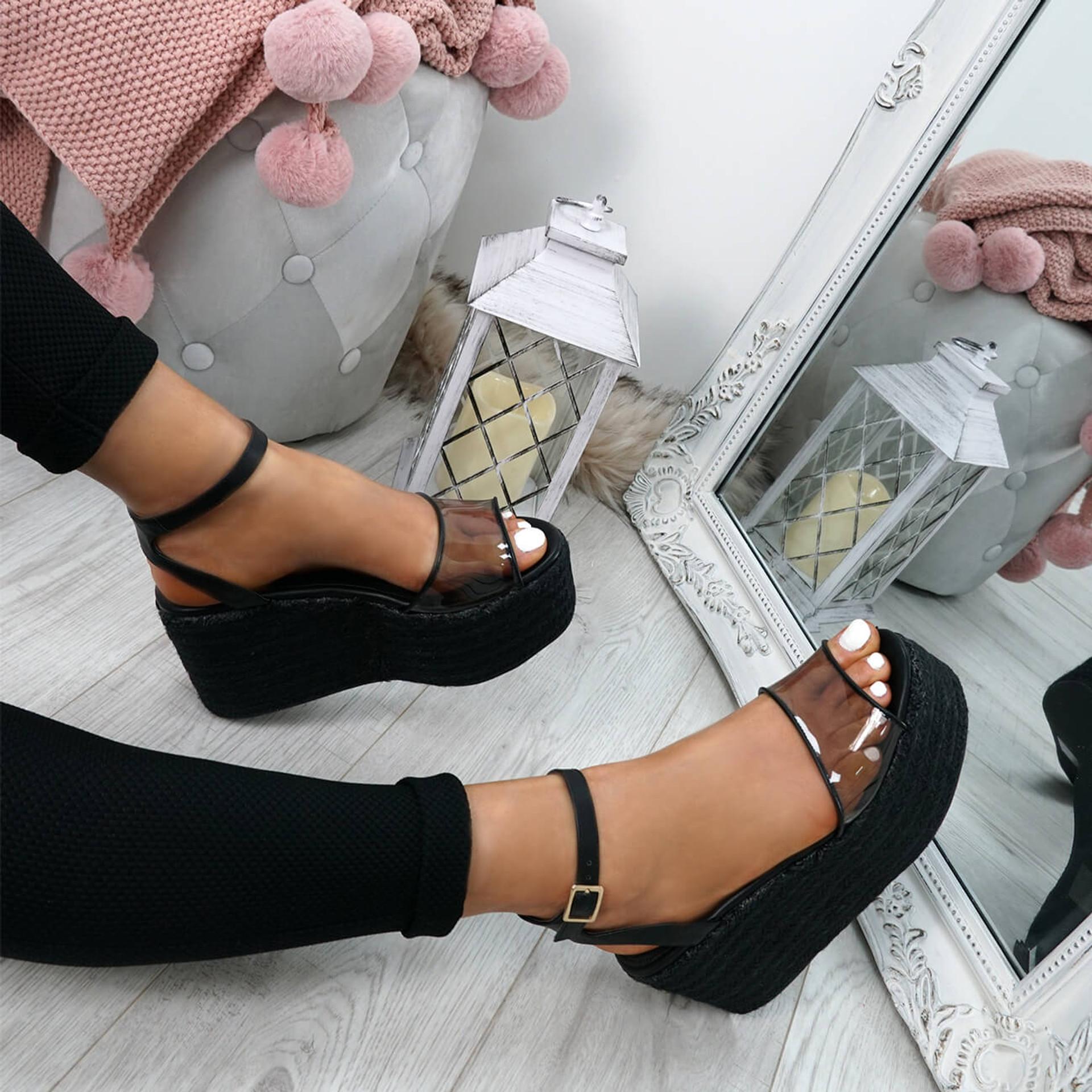 Nosa Black Platform Sandals