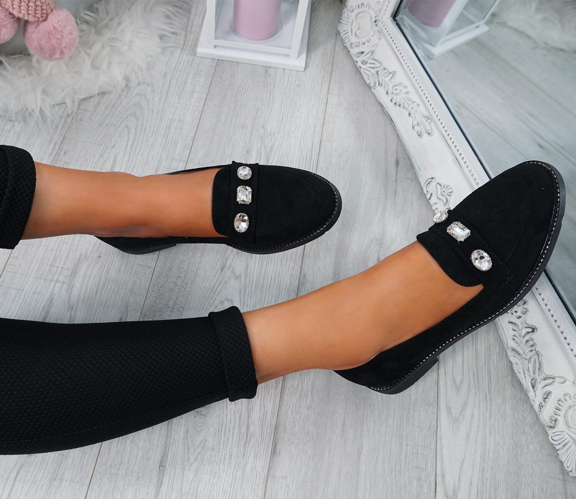 Lewe Black Studded Ballerinas