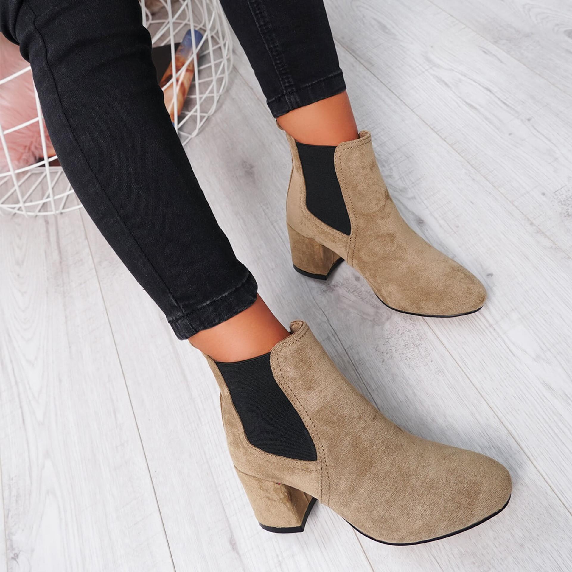 Zenta Khaki Chelsea Ankle Boots