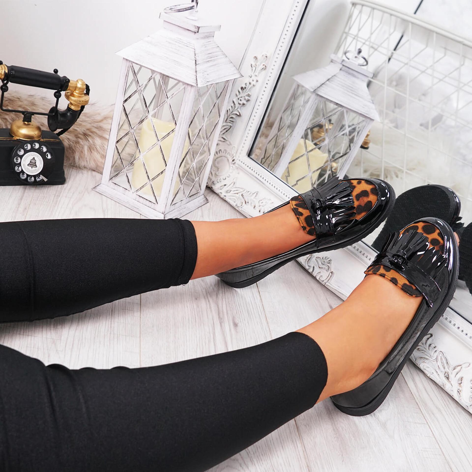 Nexa Leopard Tassel Ballerinas