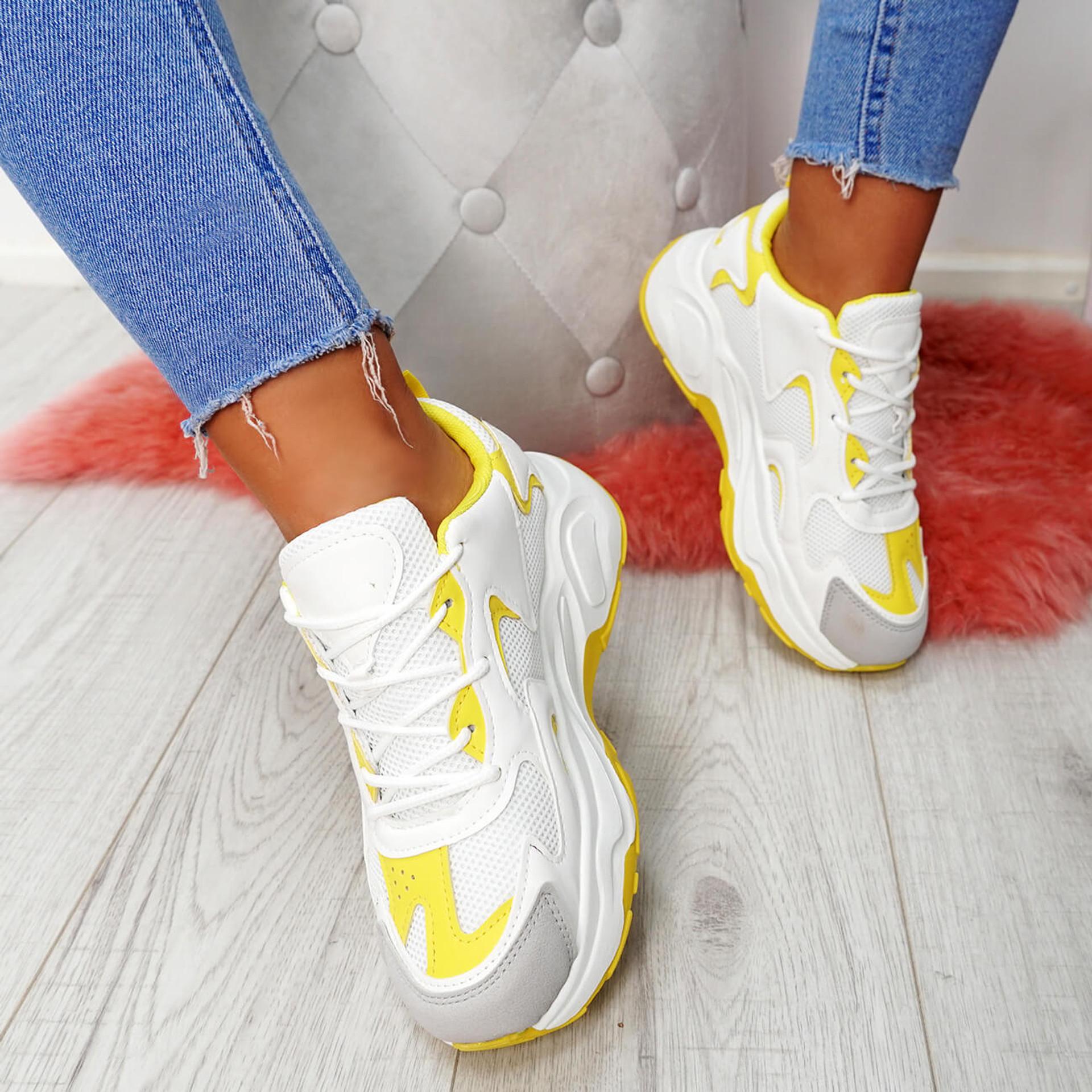 Walla Yellow Chunky Trainers