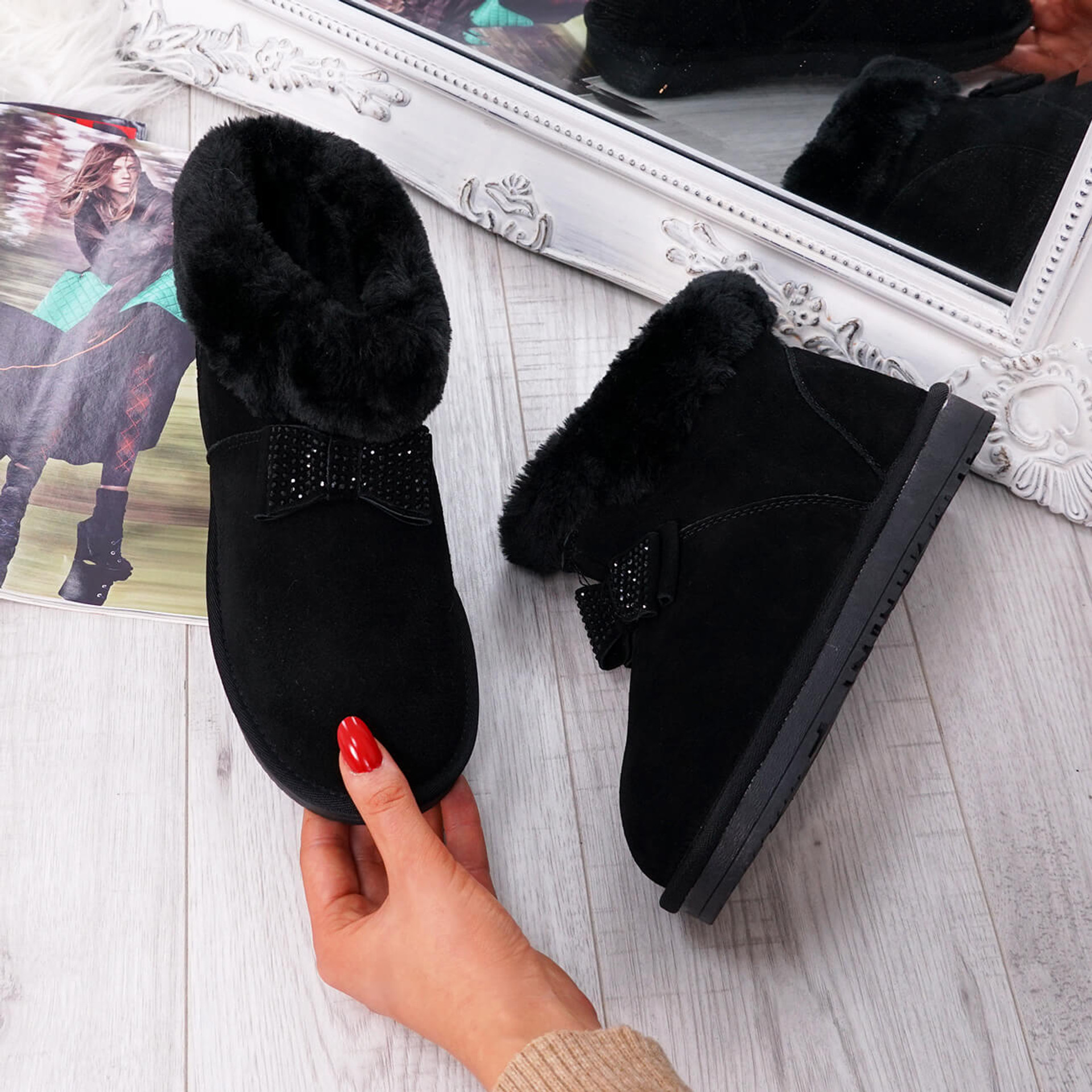 Fya Black Ankle Boots