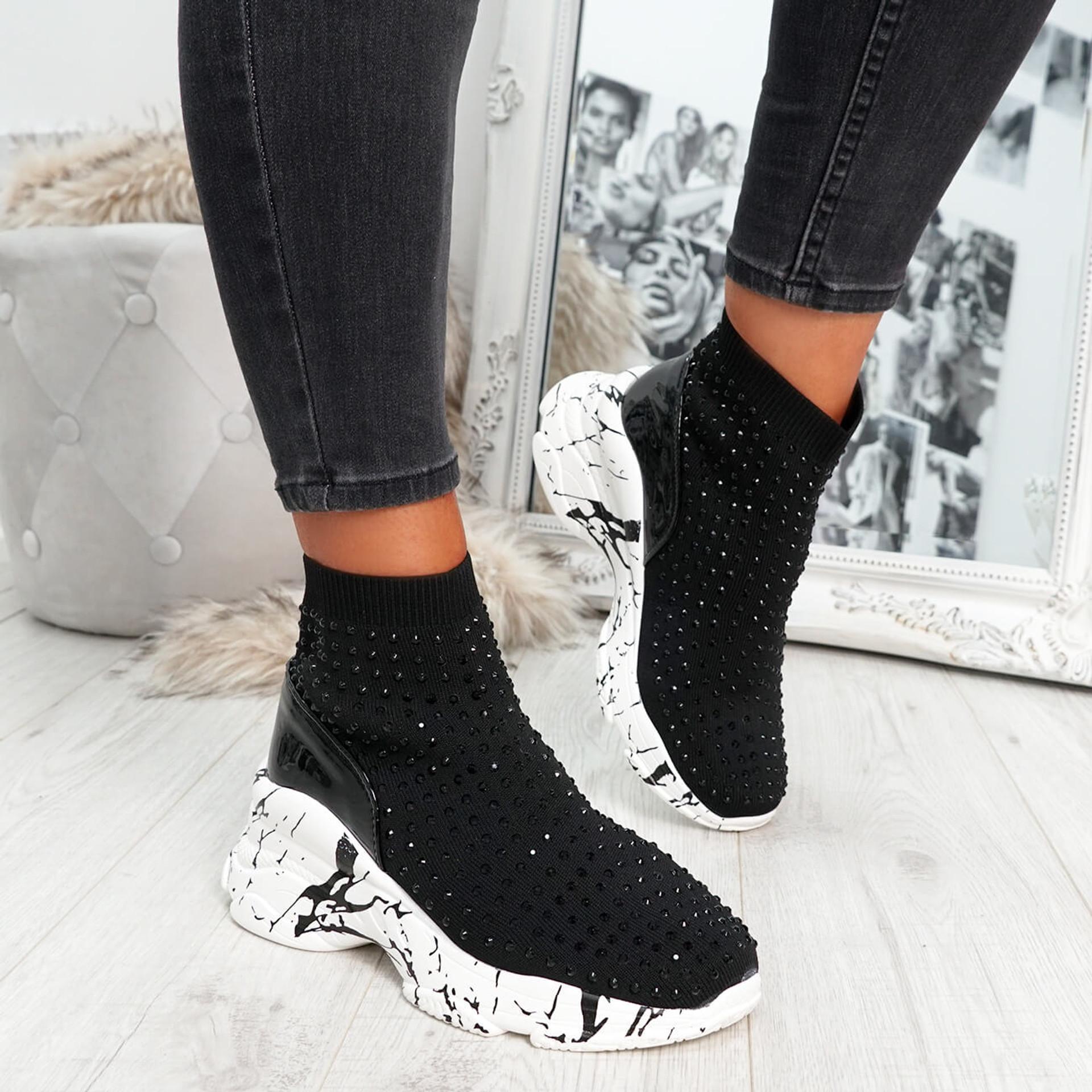 Vato Black White Sock Sneakers