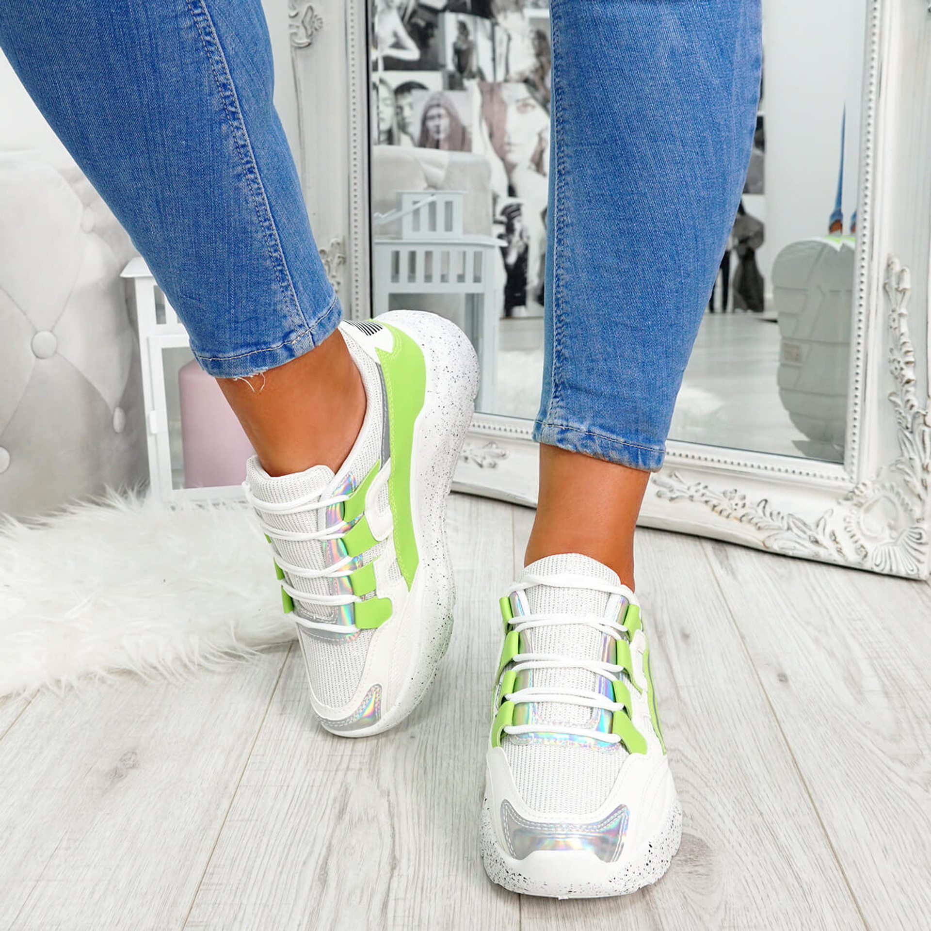 Ezzy Green Chunky Sneakers