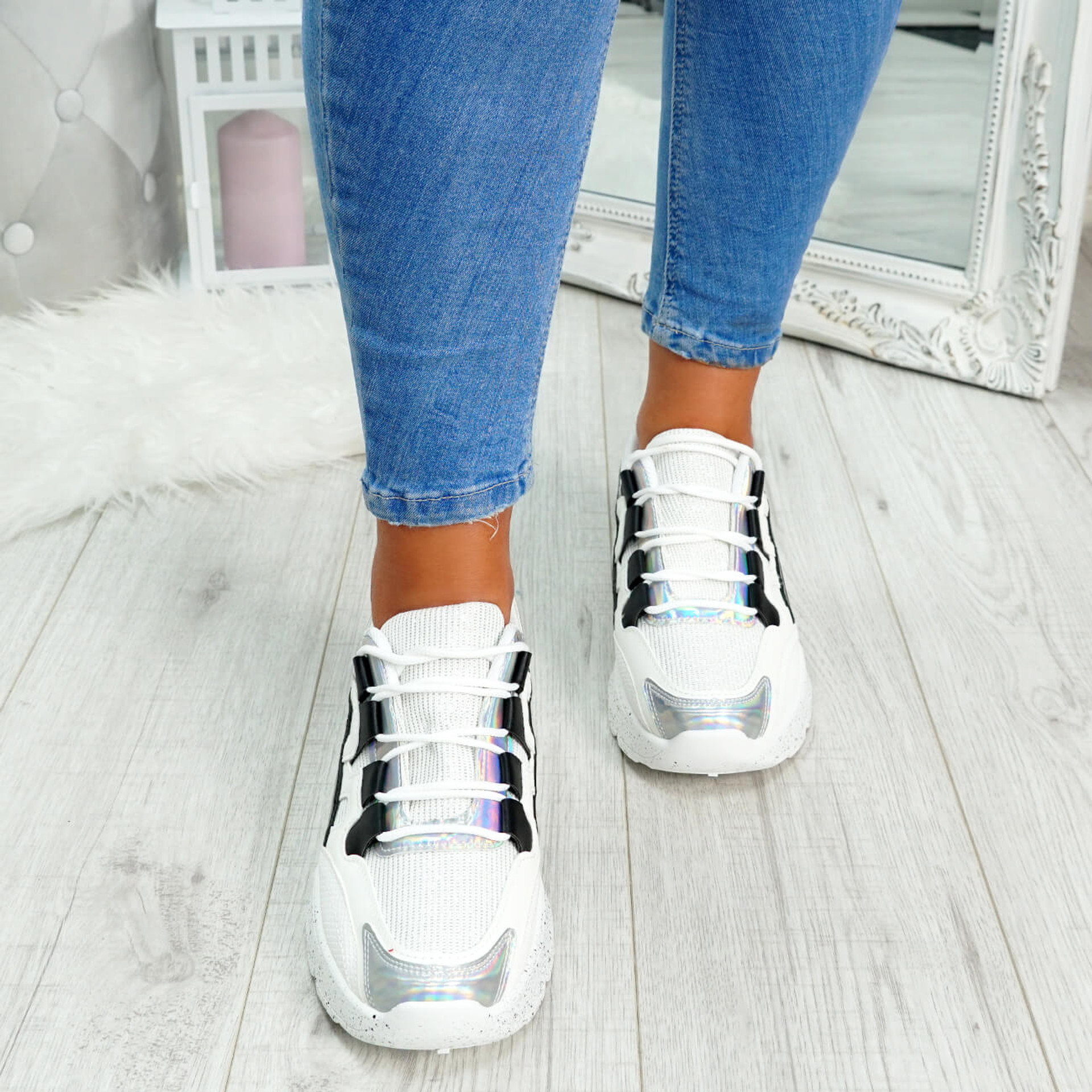 Ezzy Black Chunky Sneakers