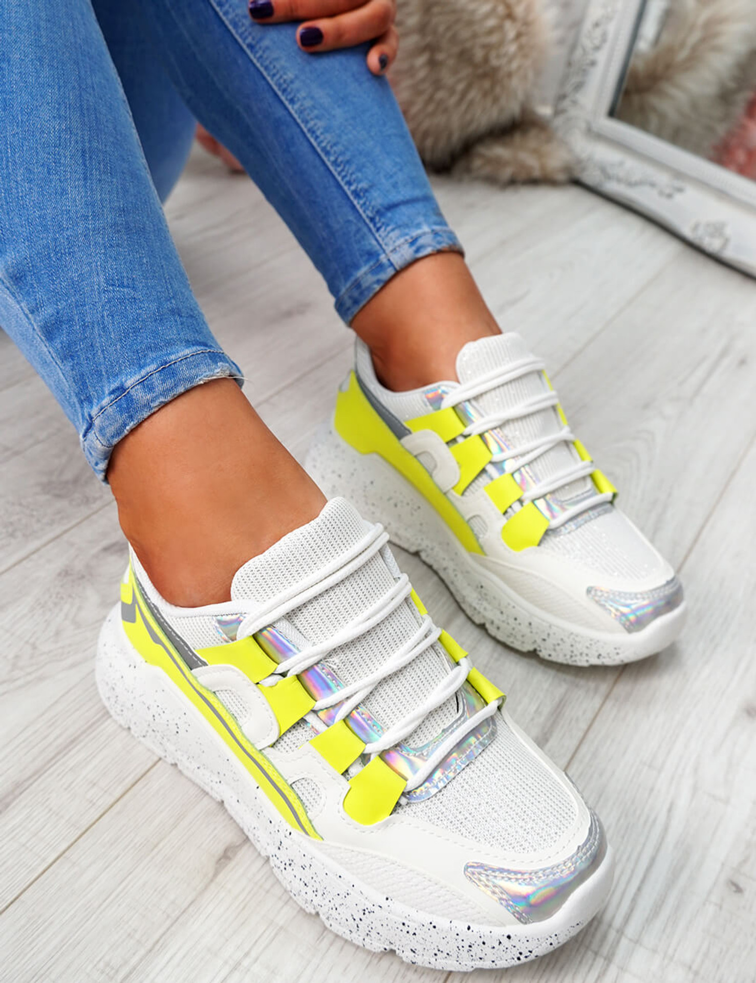 Ezzy Yellow Chunky Sneakers