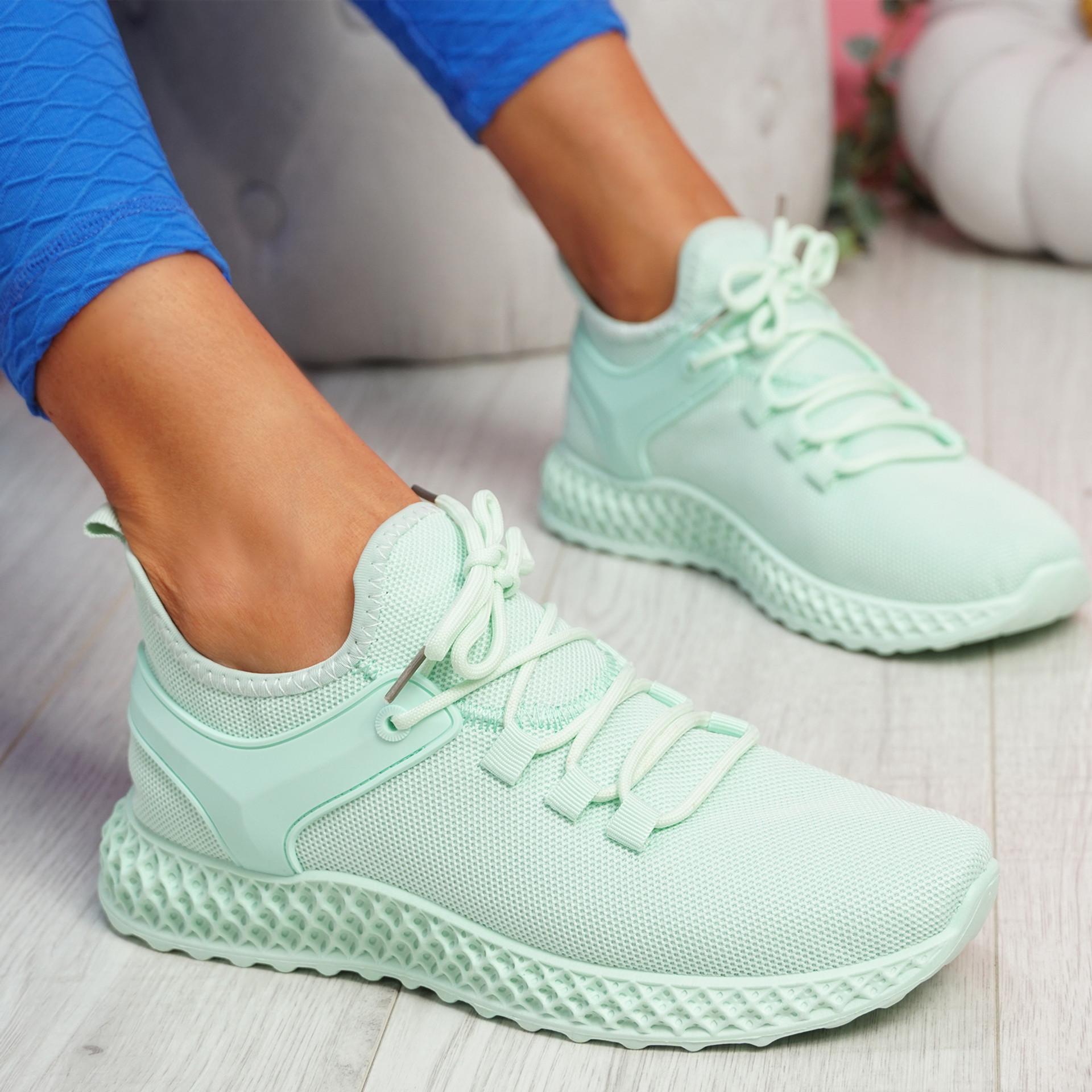 Lya Light Green Sport Trainers