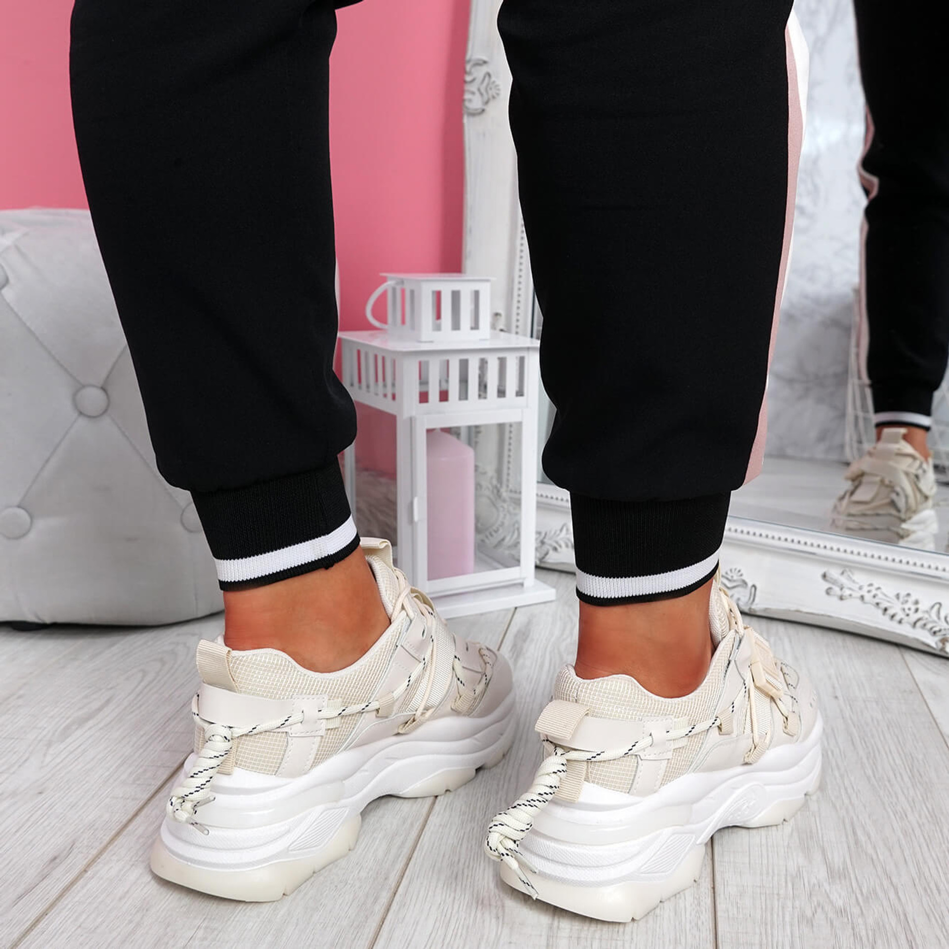 Benny Beige Chunky Sole Trainers